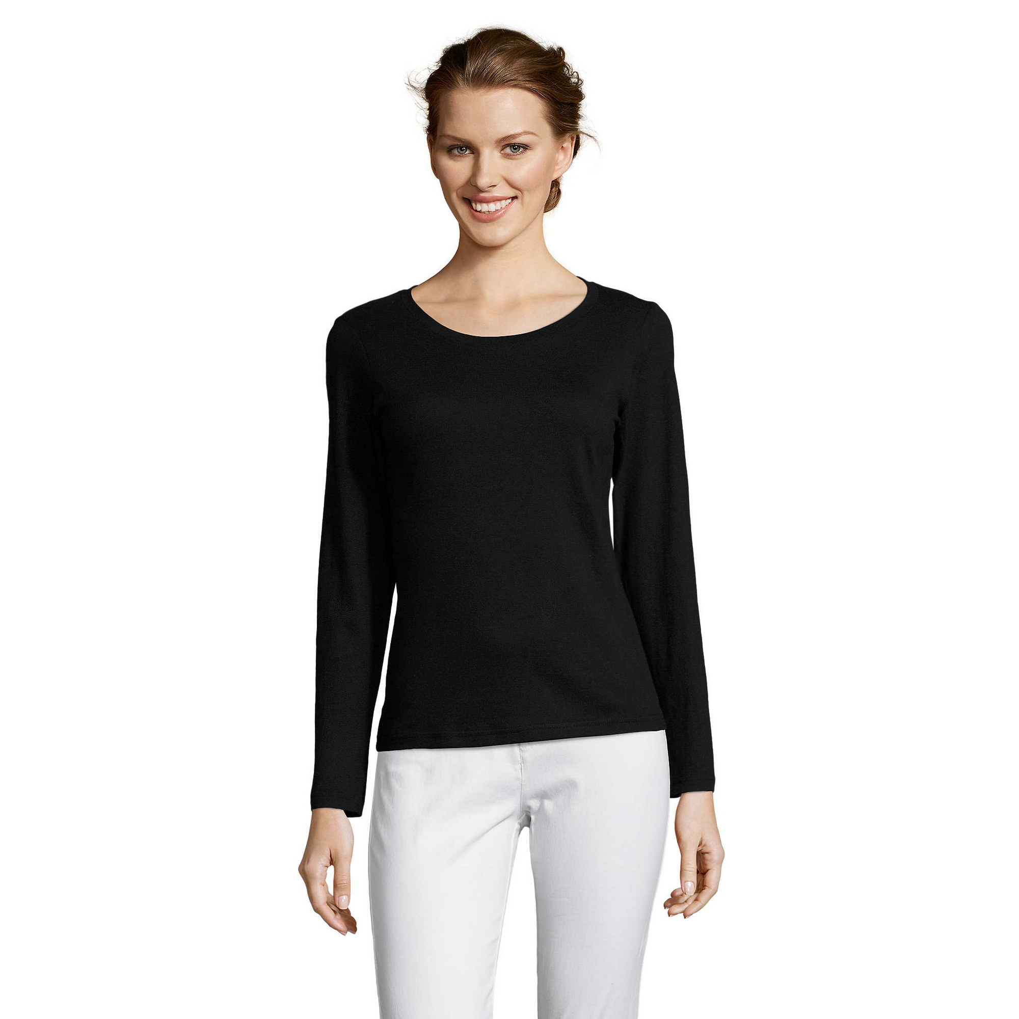 SOLS-Womens-Ladies-Majestic-Long-Sleeve-Coloured-Cotton-T-Shirt-PC314 miniatura 16