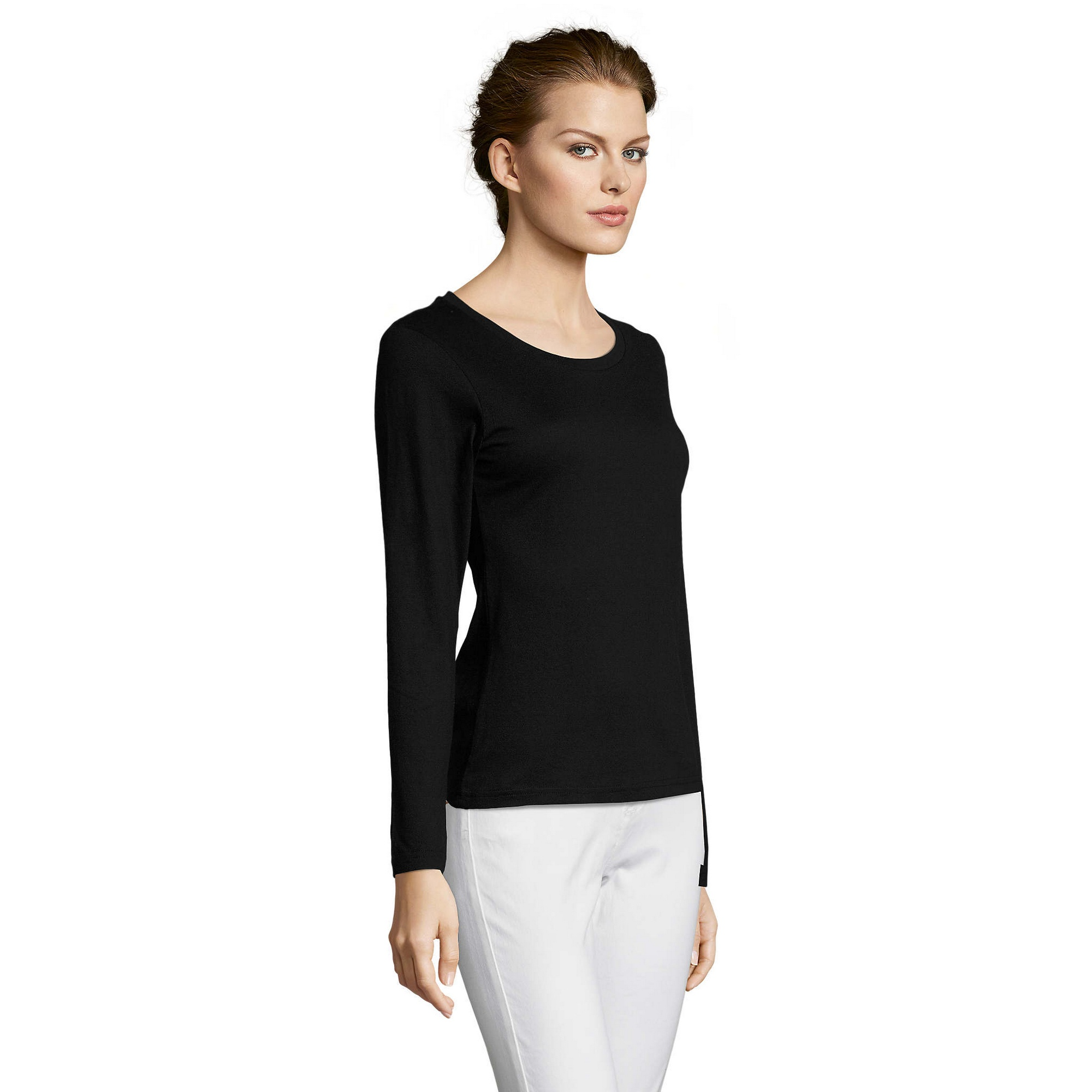 SOLS-Womens-Ladies-Majestic-Long-Sleeve-Coloured-Cotton-T-Shirt-PC314 miniatura 17
