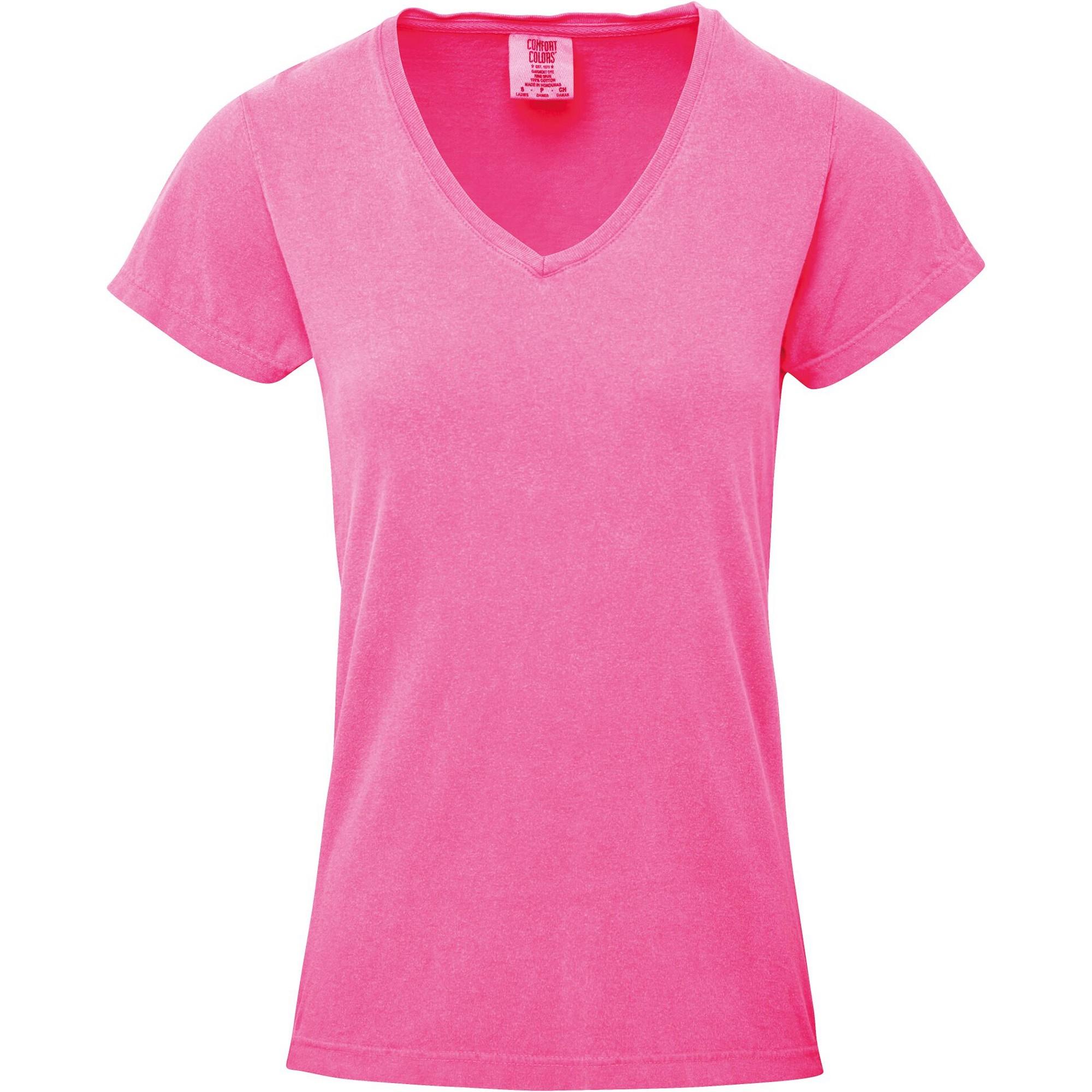 Comfort-Colors-Camiseta-con-cuello-en-V-para-mujer-PC3150
