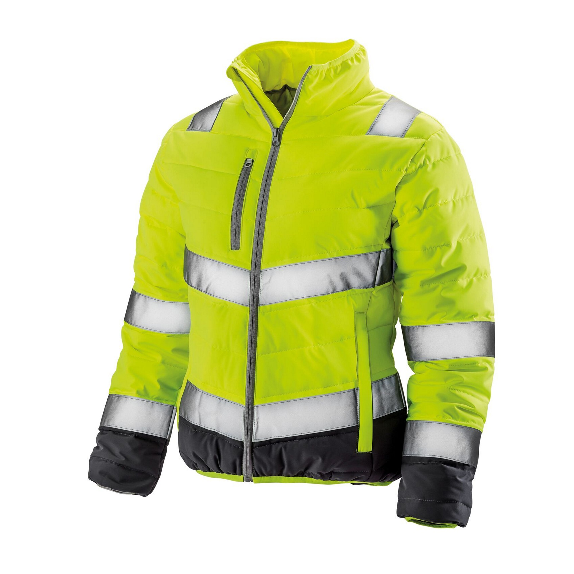 Result Womens/Ladies Safe-Guard Soft Safety Jacket (XL) (Fluorescent Yellow/Grey)