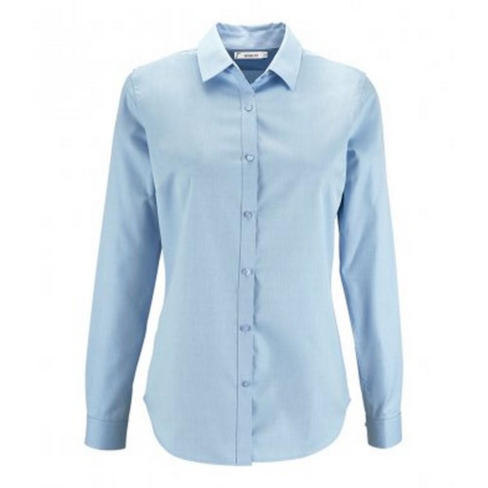 SOLS-Camisa-de-espiguilla-y-manga-larga-modelo-Brody-para-mujer-PC3174