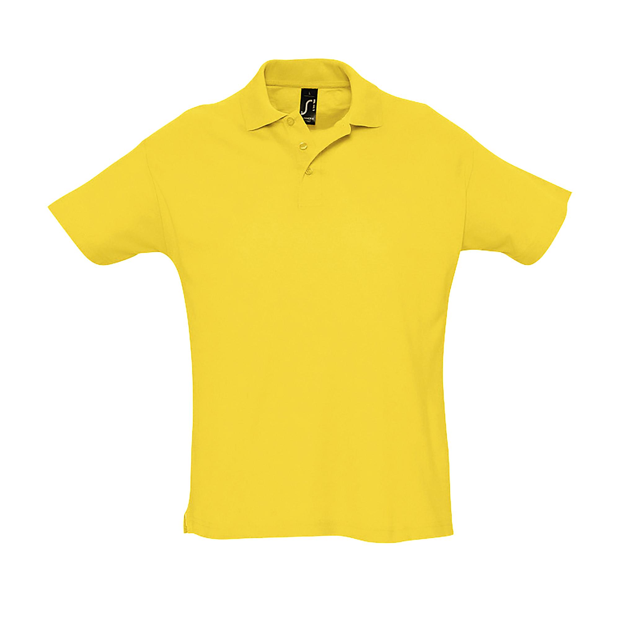 SOLS-Mens-Summer-II-Pique-Short-Sleeve-Casual-Plain-Polo-Shirt-T-Shirt-PC318 thumbnail 74