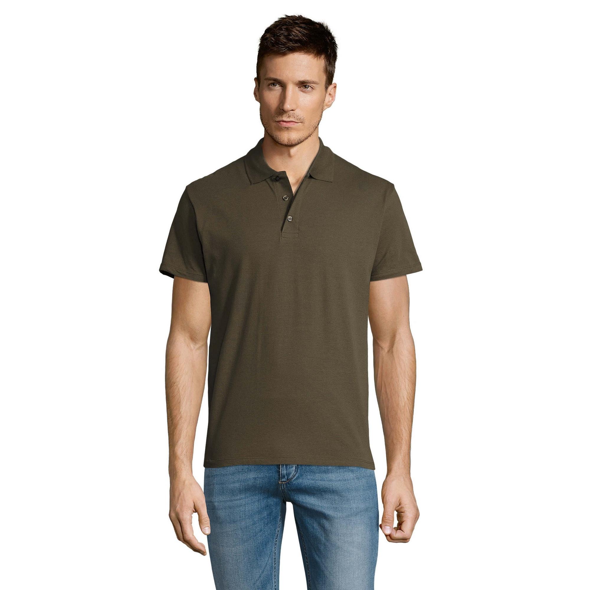 SOLS-Mens-Summer-II-Pique-Short-Sleeve-Casual-Plain-Polo-Shirt-T-Shirt-PC318 thumbnail 19