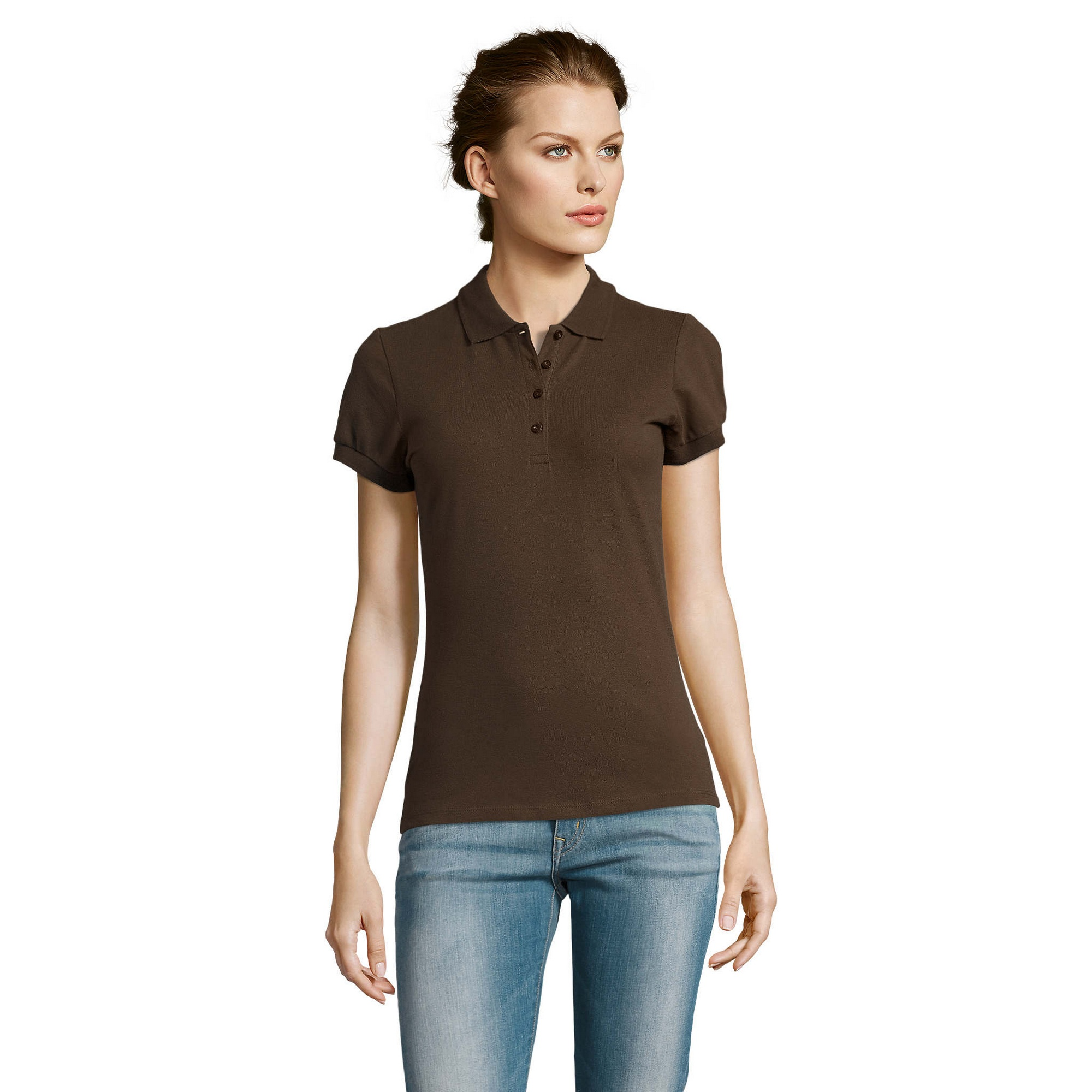 miniature 20 - SOLS-People-Polo-100-coton-a-manches-courtes-Femme-S-2XL-17-PC319