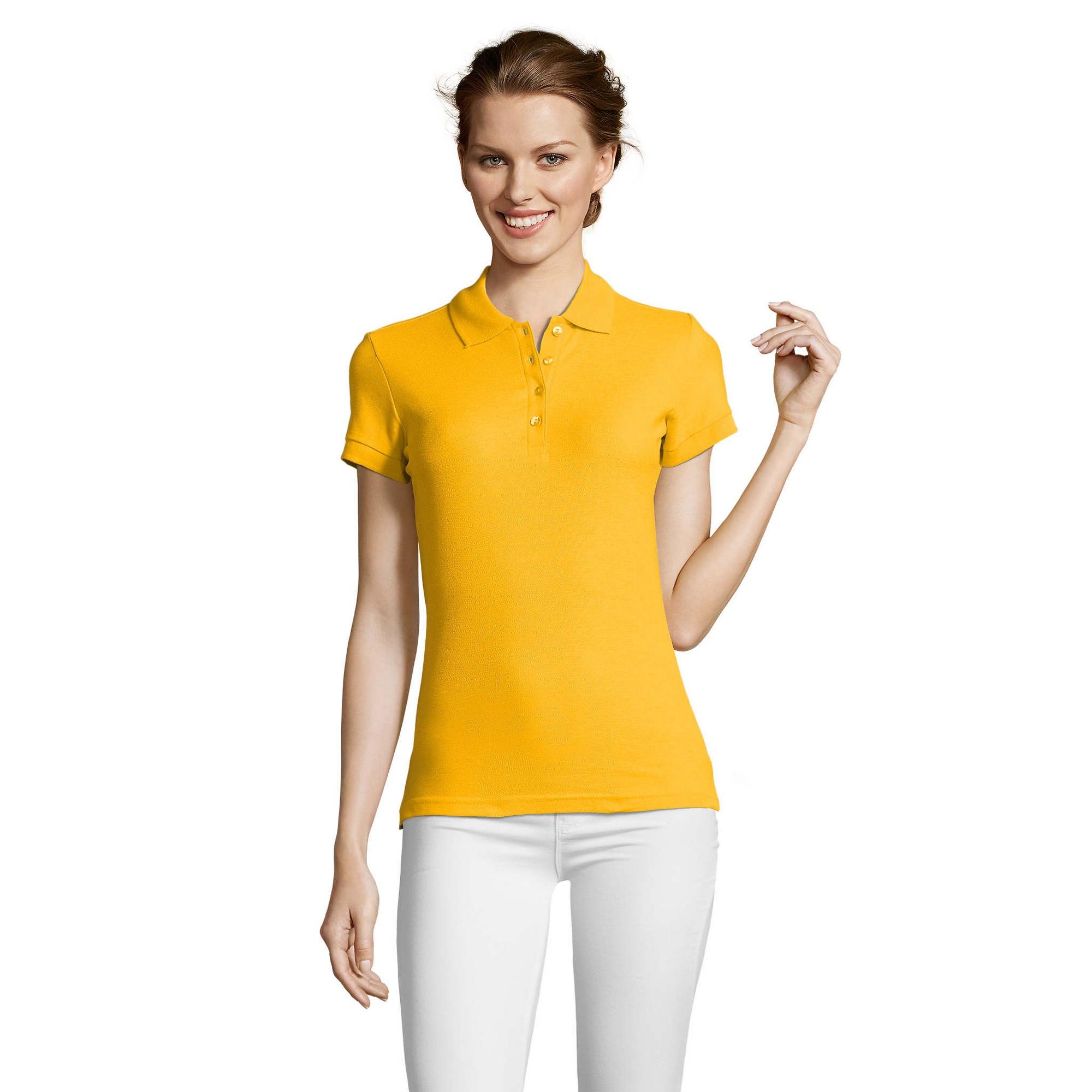miniature 16 - SOLS-People-Polo-100-coton-a-manches-courtes-Femme-S-2XL-17-PC319