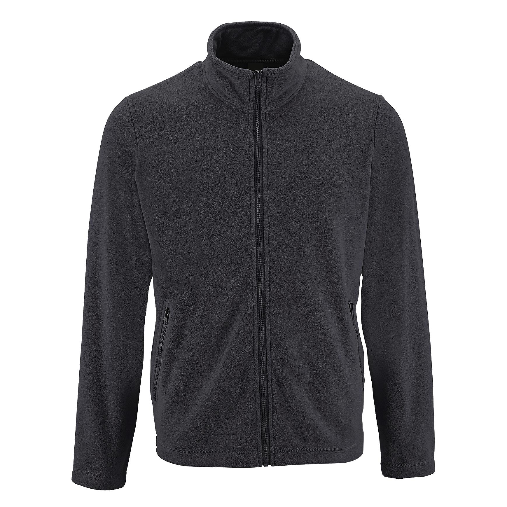 SOLS Mens Norman Fleece Jacket (XXL) (Charcoal)