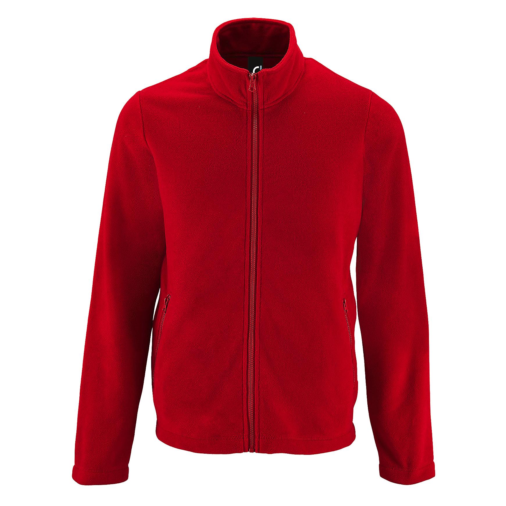 SOLS Mens Norman Fleece Jacket (XXL) (Red)