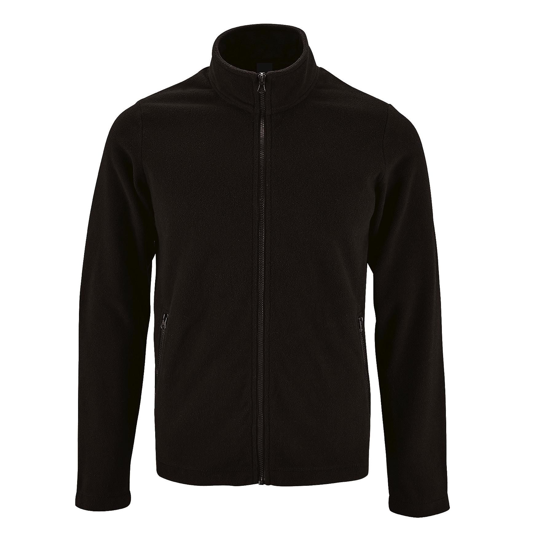 SOLS Mens Norman Fleece Jacket (3XL) (Black)