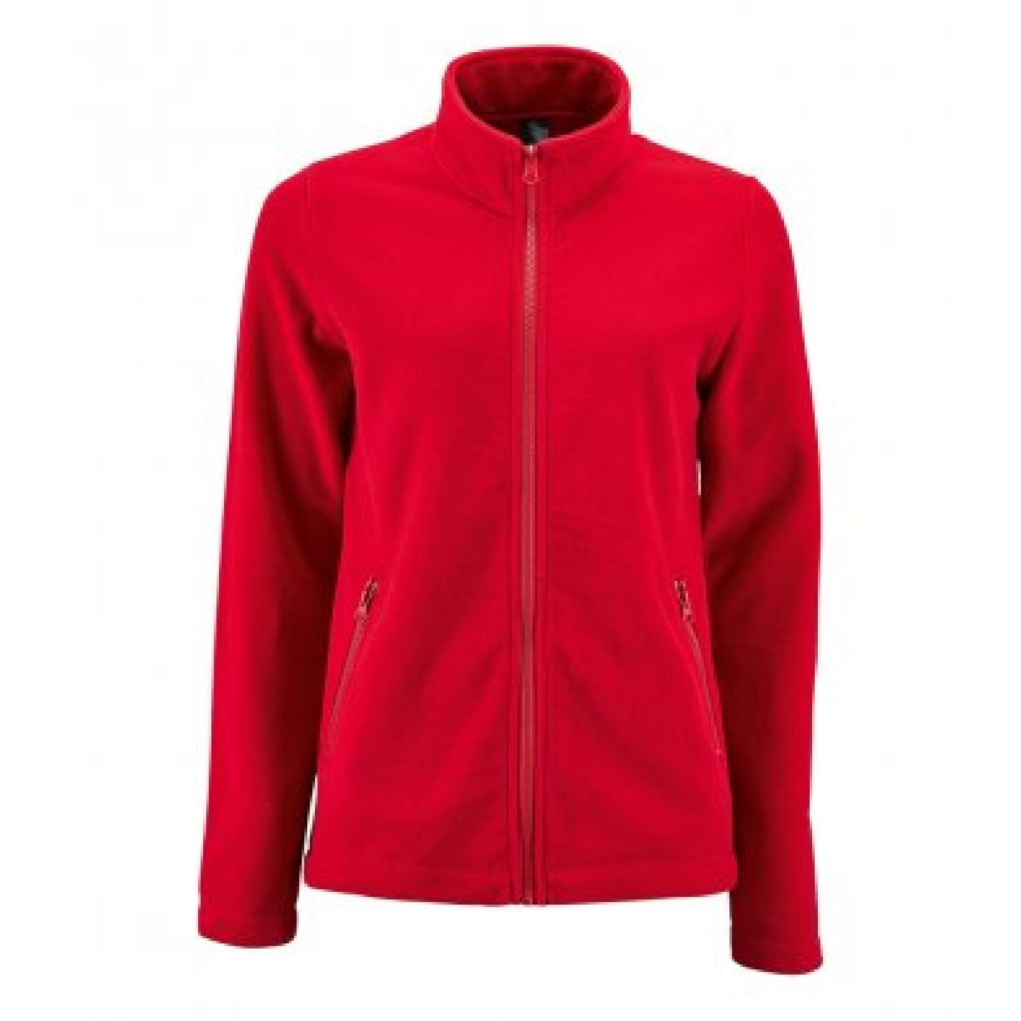 SOLS Womens/Ladies Norman Fleece Jacket (XXL) (Red)