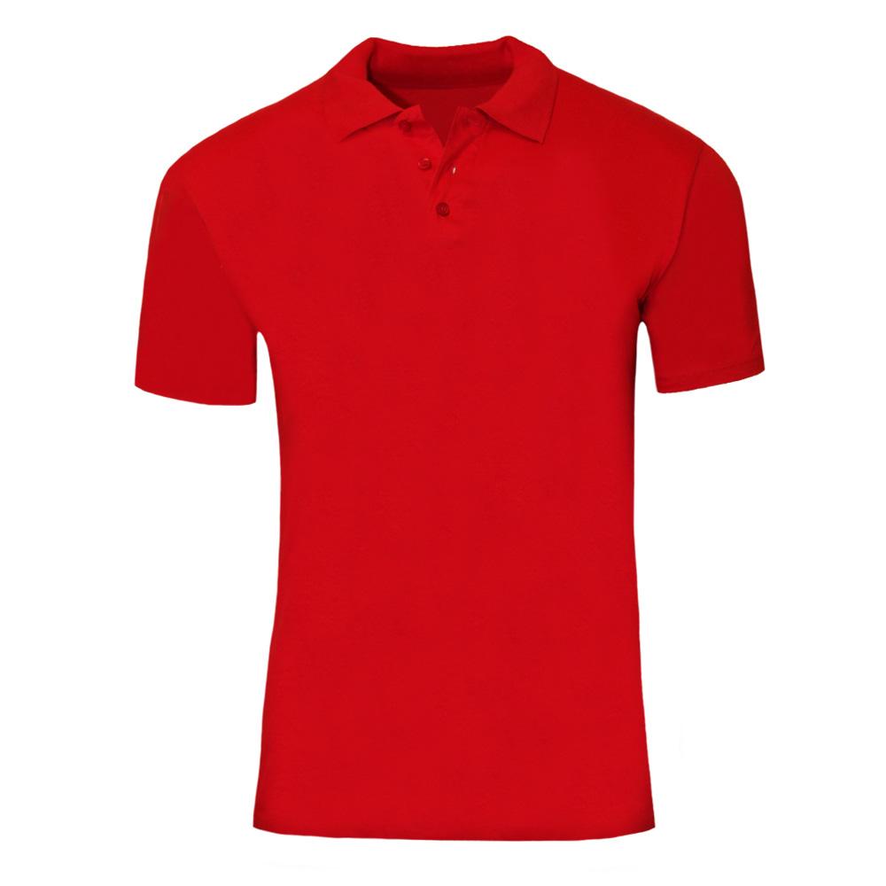 SOLS Mens Prescott Jersey Short Sleeve Polo Shirt (L) (Red)