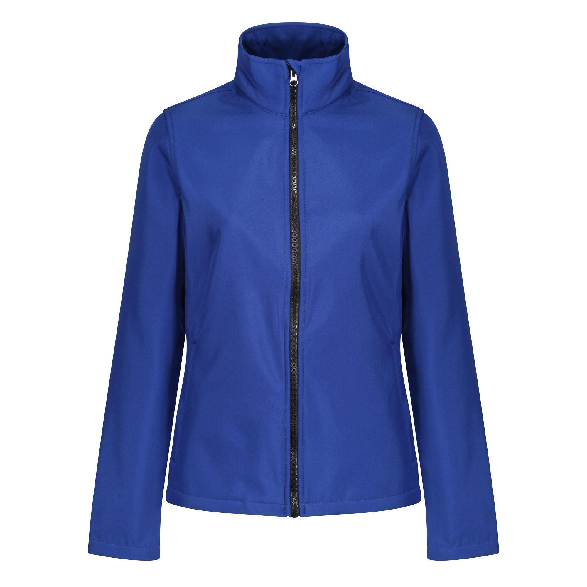 Regatta Standout Womens/Ladies Ablaze Printable Soft Shell Jacket (10) (Navy/Navy)