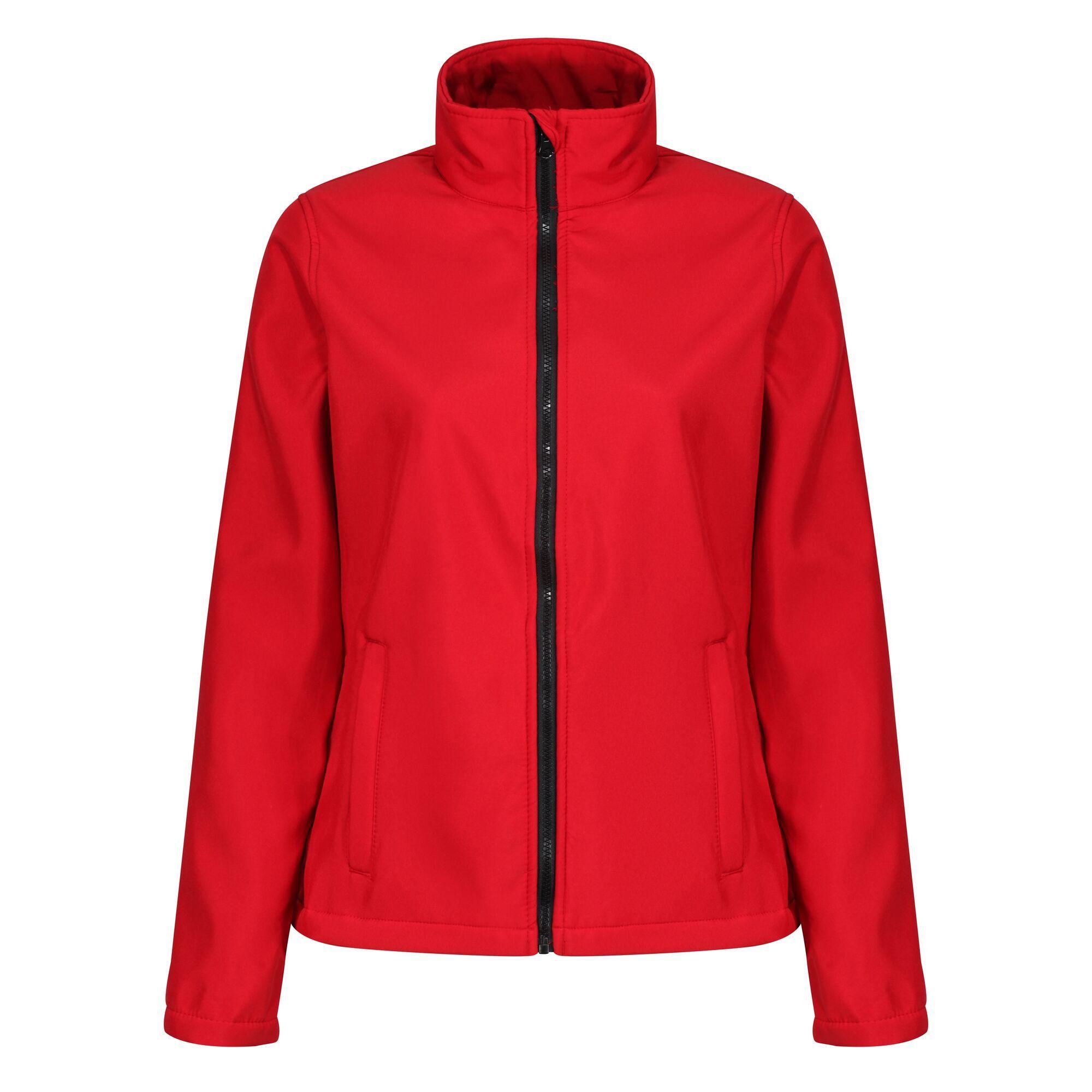 Regatta Standout Womens/Ladies Ablaze Printable Soft Shell Jacket (16) (White/Light Steel)