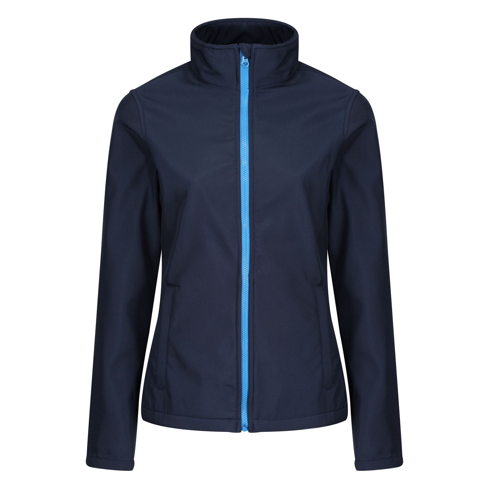 Regatta Standout Womens/Ladies Ablaze Printable Soft Shell Jacket (10) (Royal Blue/Black)