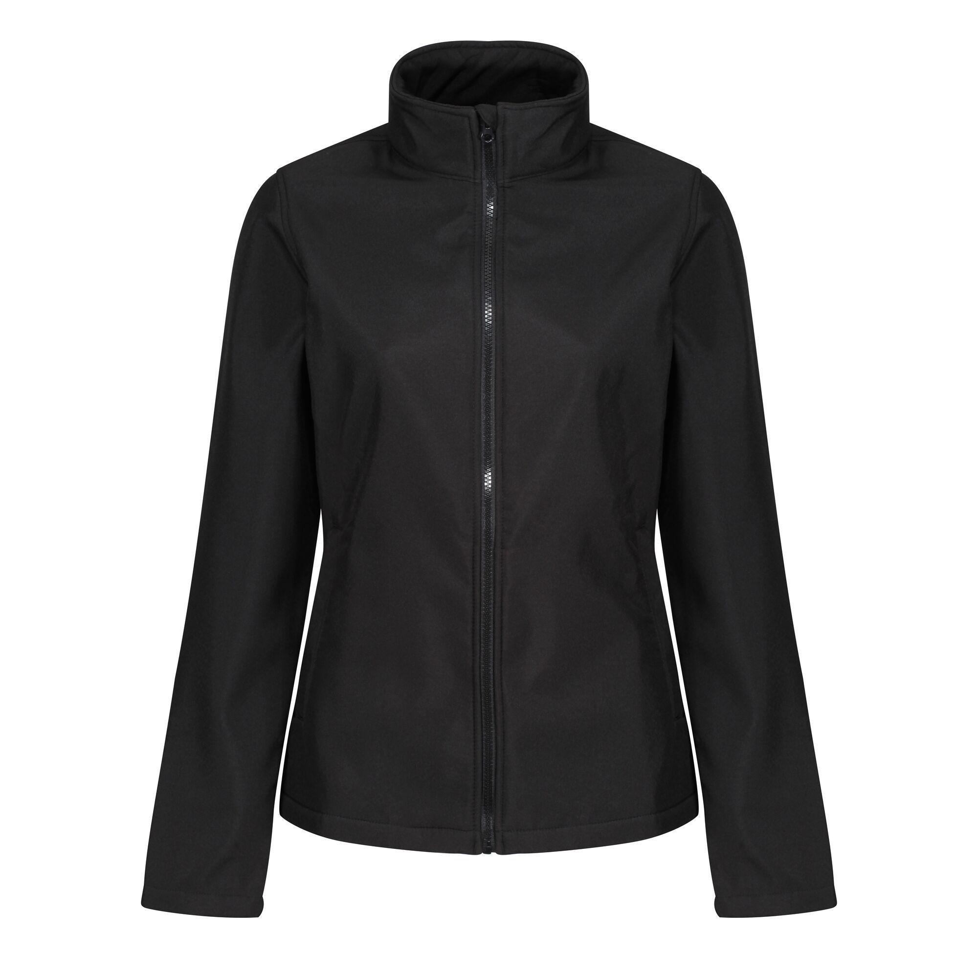 Regatta Standout Womens/Ladies Ablaze Printable Soft Shell Jacket (14) (Magma Orange/Black)