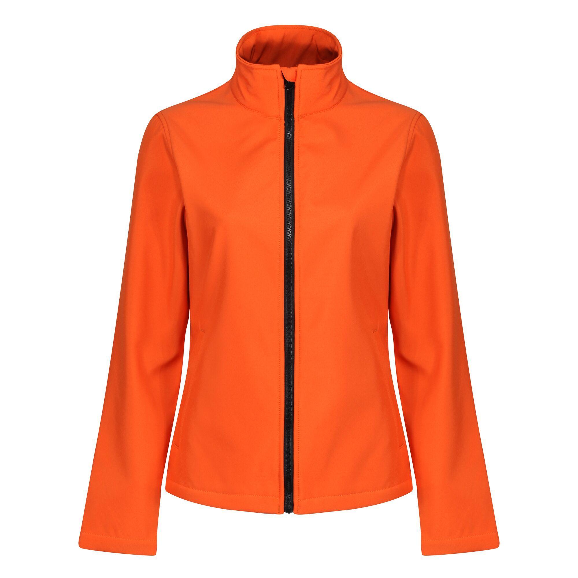 Regatta Standout Womens/Ladies Ablaze Printable Soft Shell Jacket (16) (Black/Classic Red)