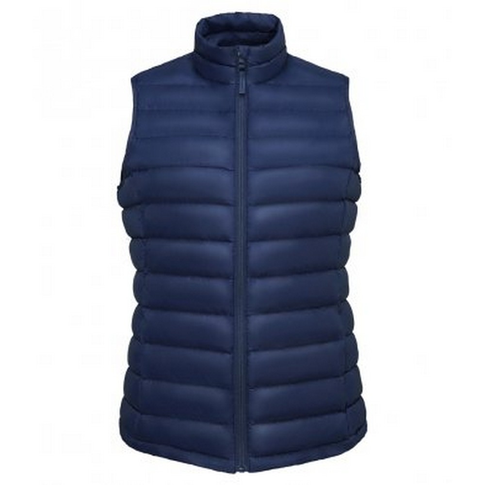 SOLS Womens/Ladies Wilson Lightweight Padded Bodywarmer (M) (French Navy)