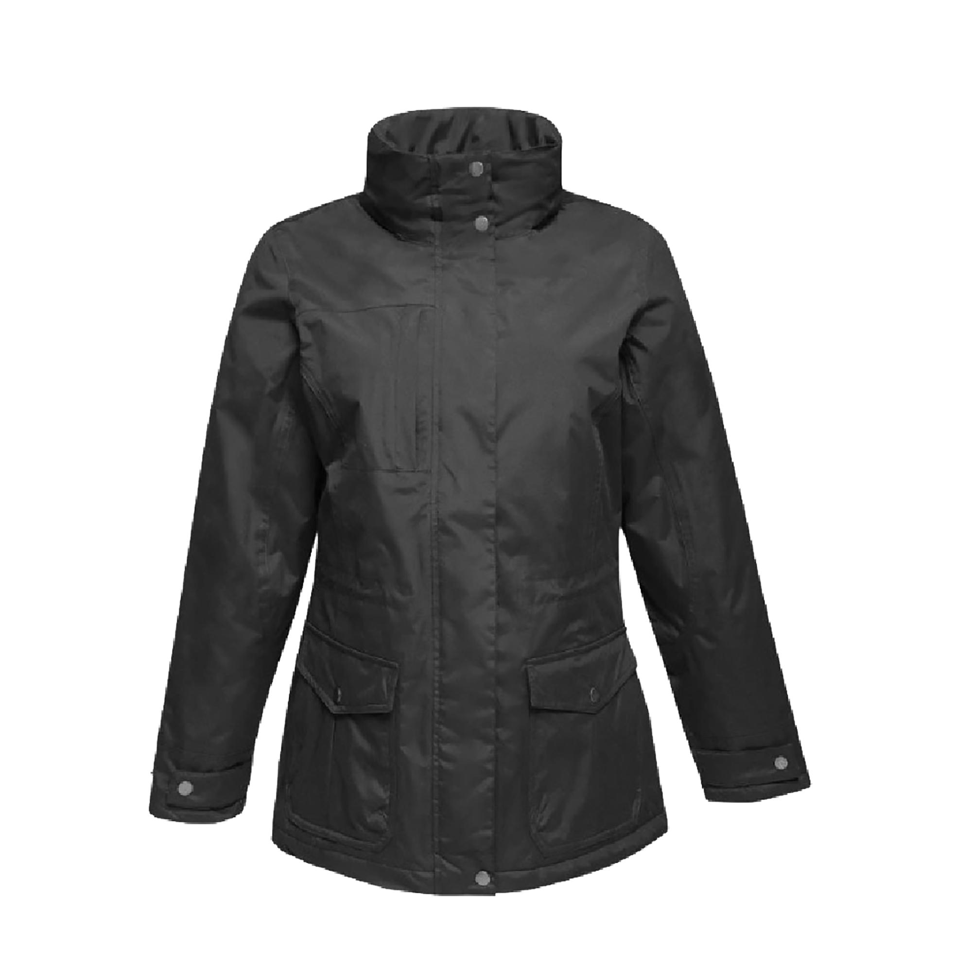 Regatta Womens/Ladies Darby III Waterproof Insulated Jacket (12 UK) (Black/Black)