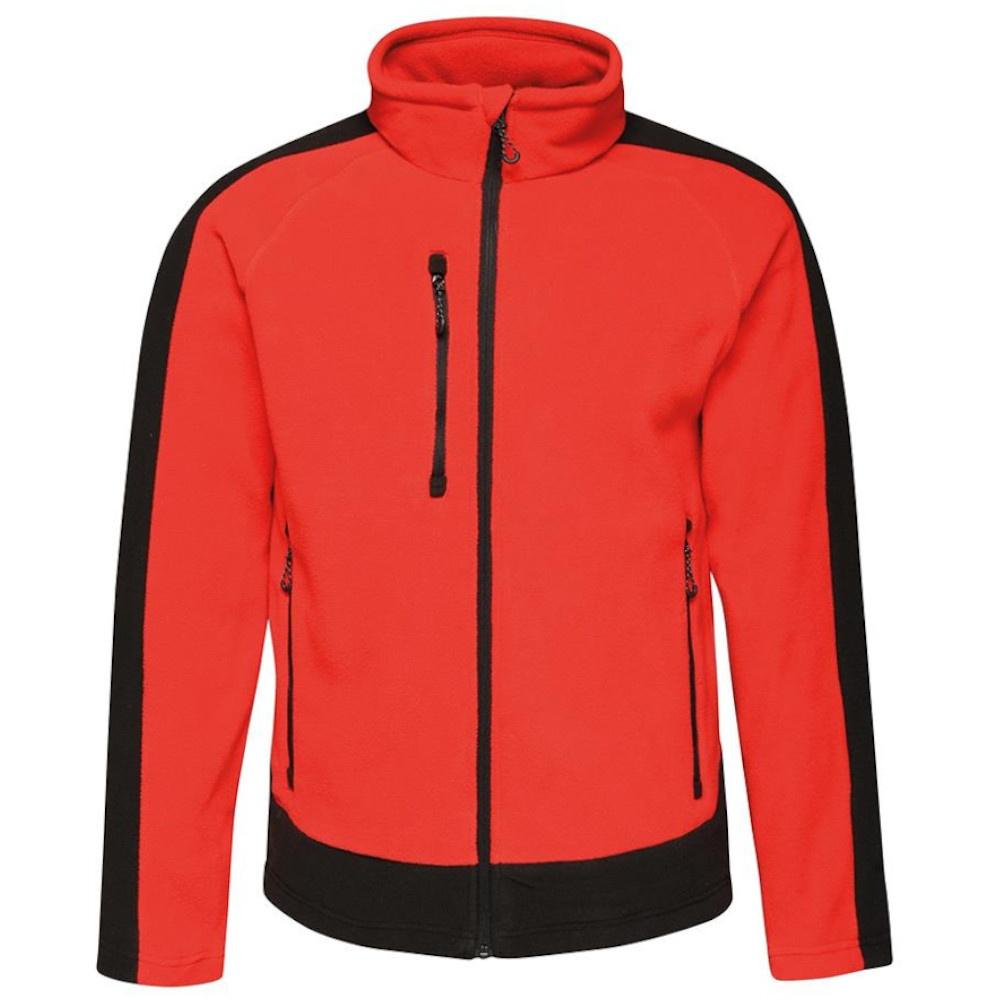 Regatta Mens Contrast 300 Fleece Jacket (XL) (Classic Red/Black)