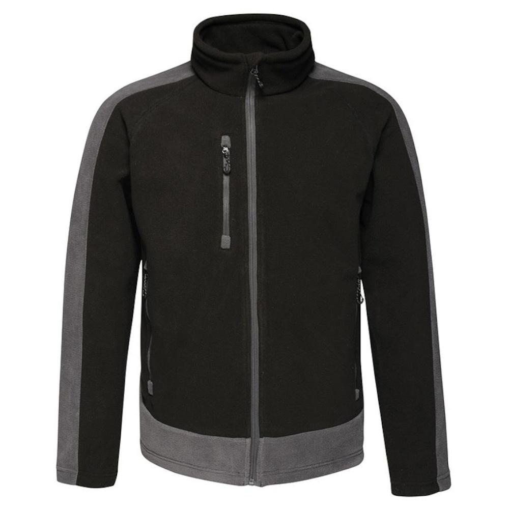 Regatta Mens Contrast 300 Fleece Jacket (4XL) (Black/Seal Grey)