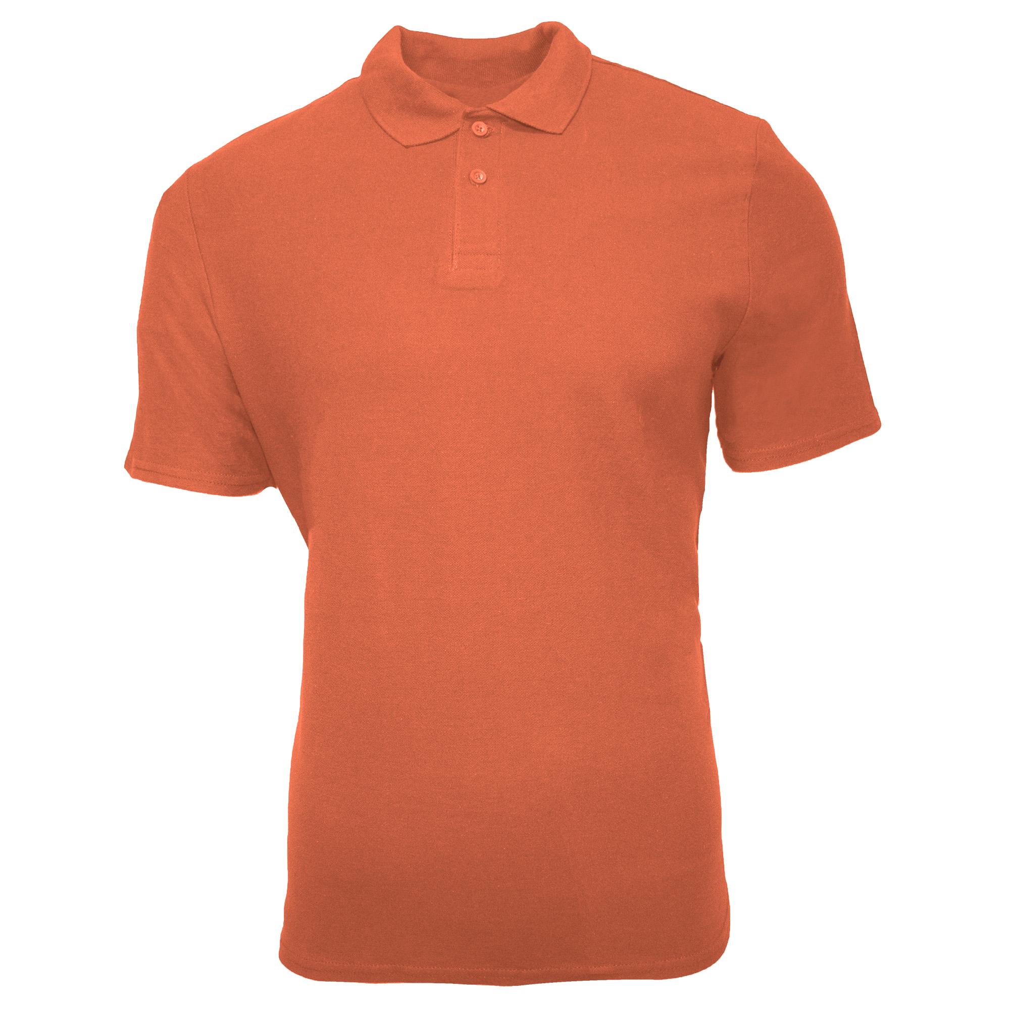 Gildan Mens SoftStyle Double Pique Polo Shirt (4XL) (Bright Salmon)