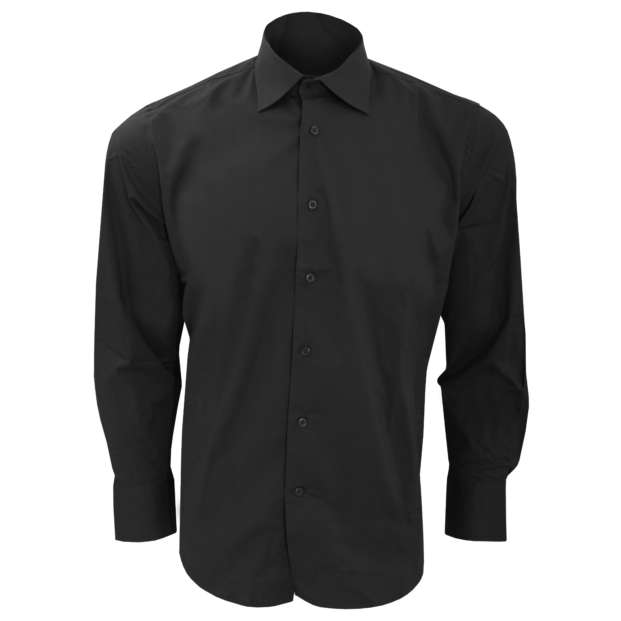 SOLS Mens Brighton Long Sleeve Fitted Work Shirt (S) (Black)