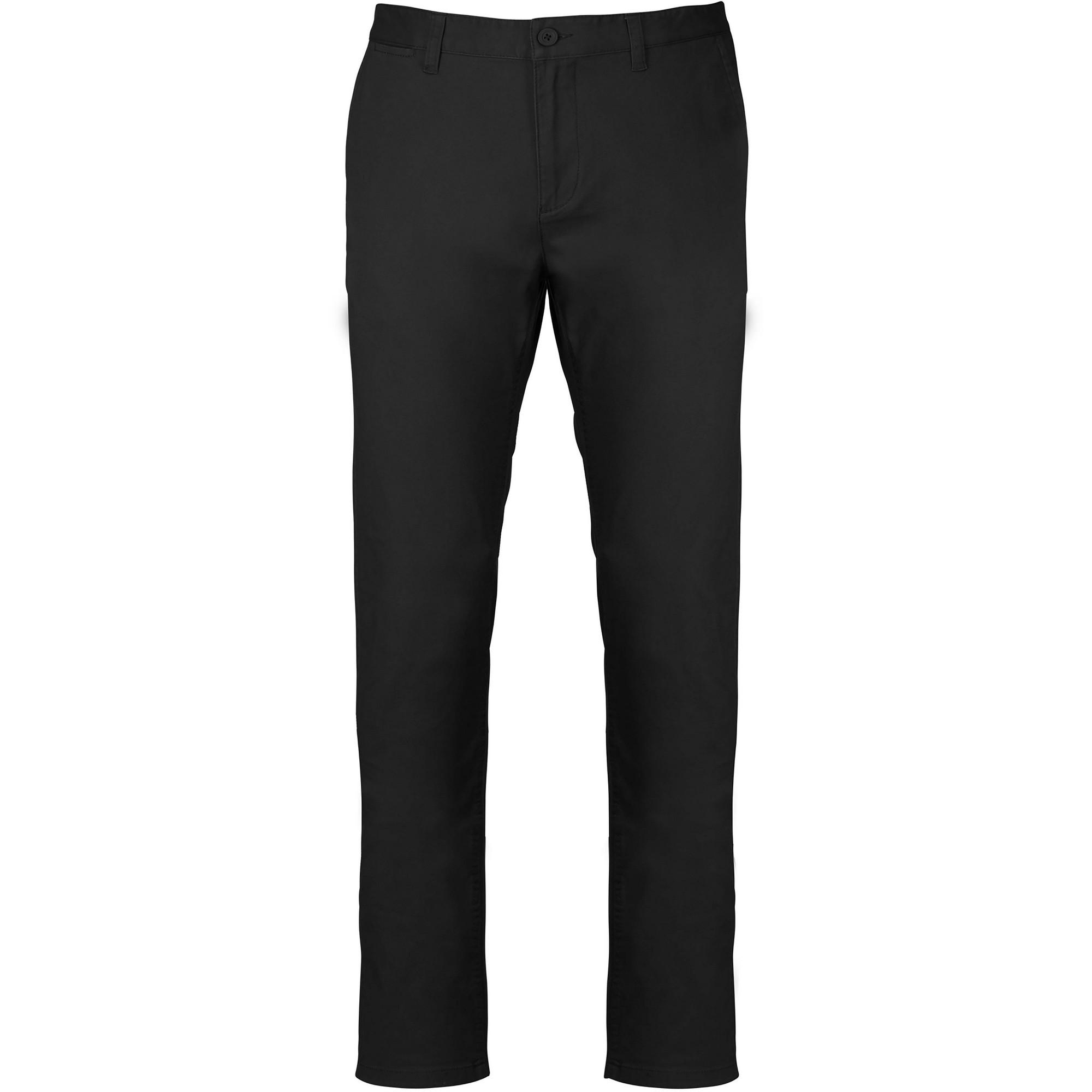 Kariban Mens Chino Trousers (L) (Black)