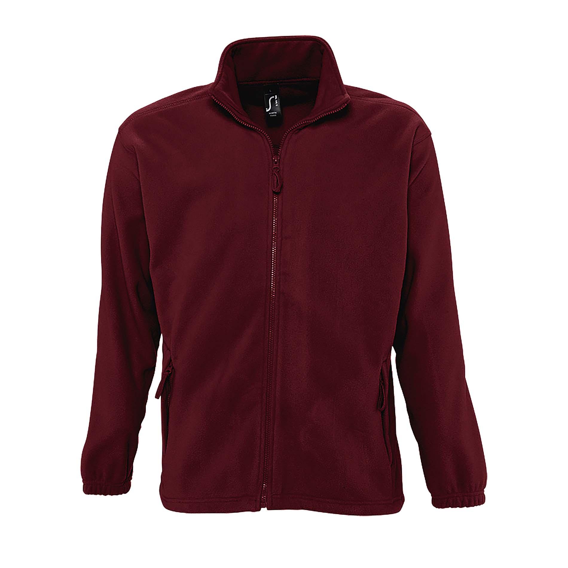 SOLS Mens North Full Zip Outdoor Fleece Jacket (M) (Neon Yellow)
