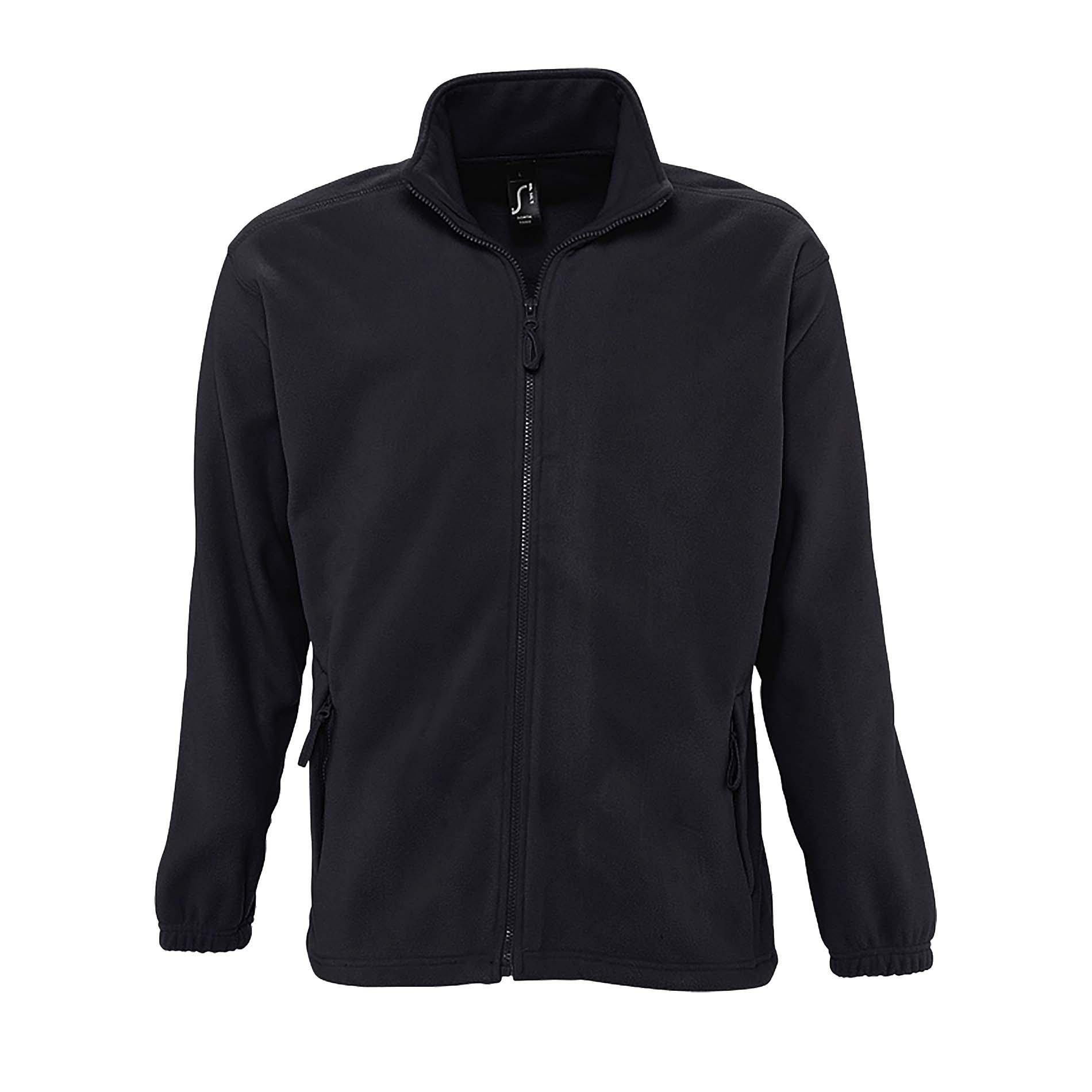 SOLS Mens North Full Zip Outdoor Fleece Jacket (3XL) (Charcoal)