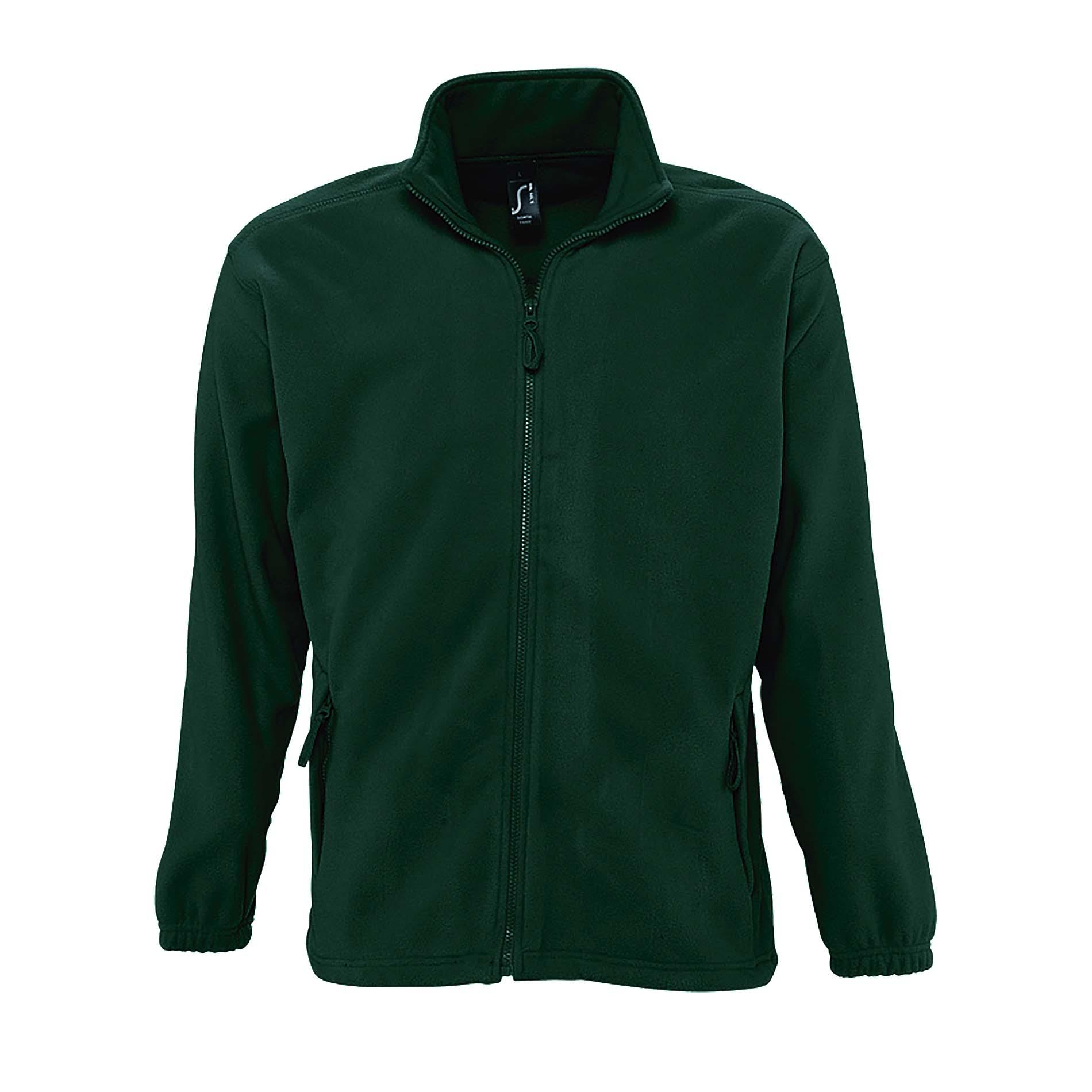 SOLS Mens North Full Zip Outdoor Fleece Jacket (XL) (Lime)