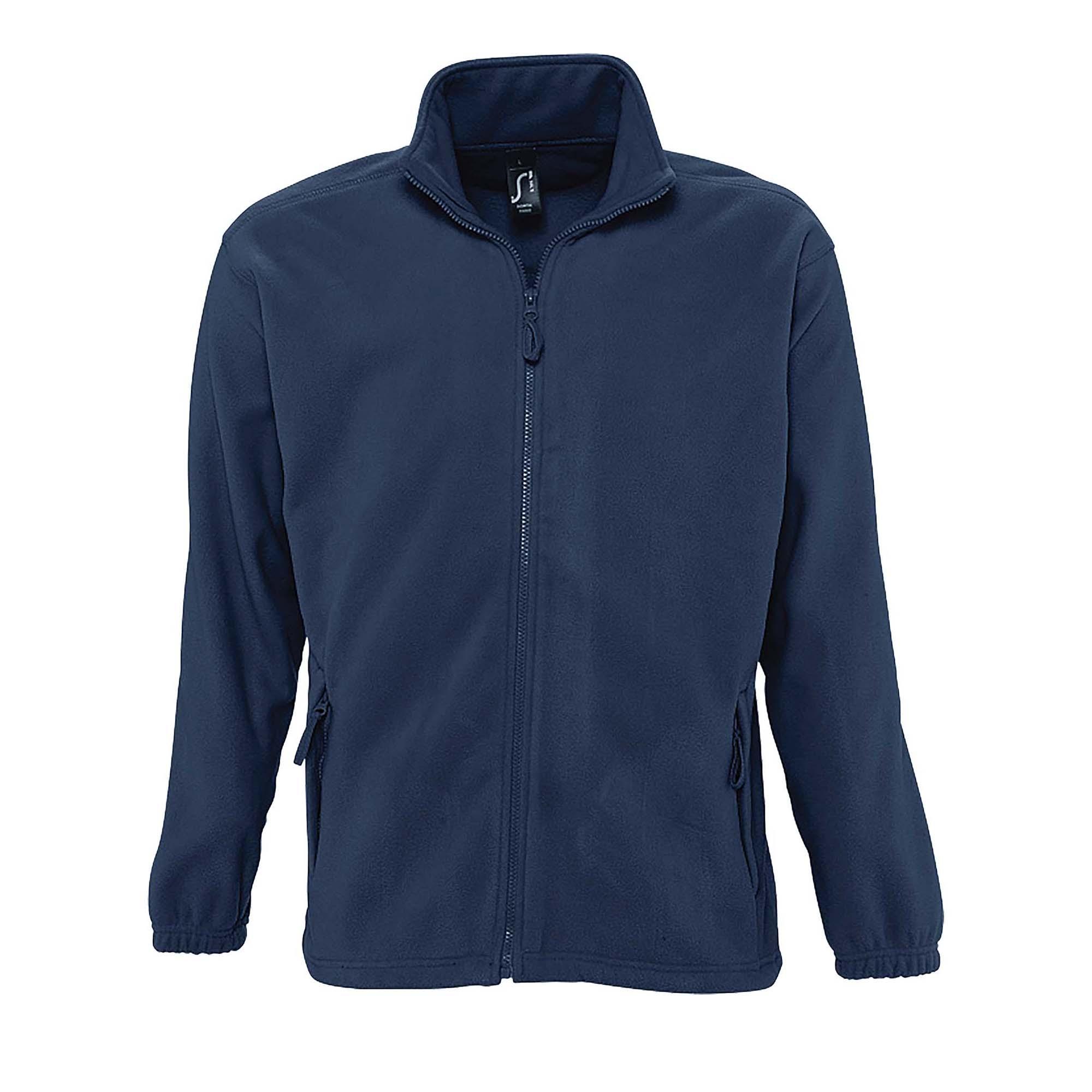 SOLS Mens North Full Zip Outdoor Fleece Jacket (M) (Black)