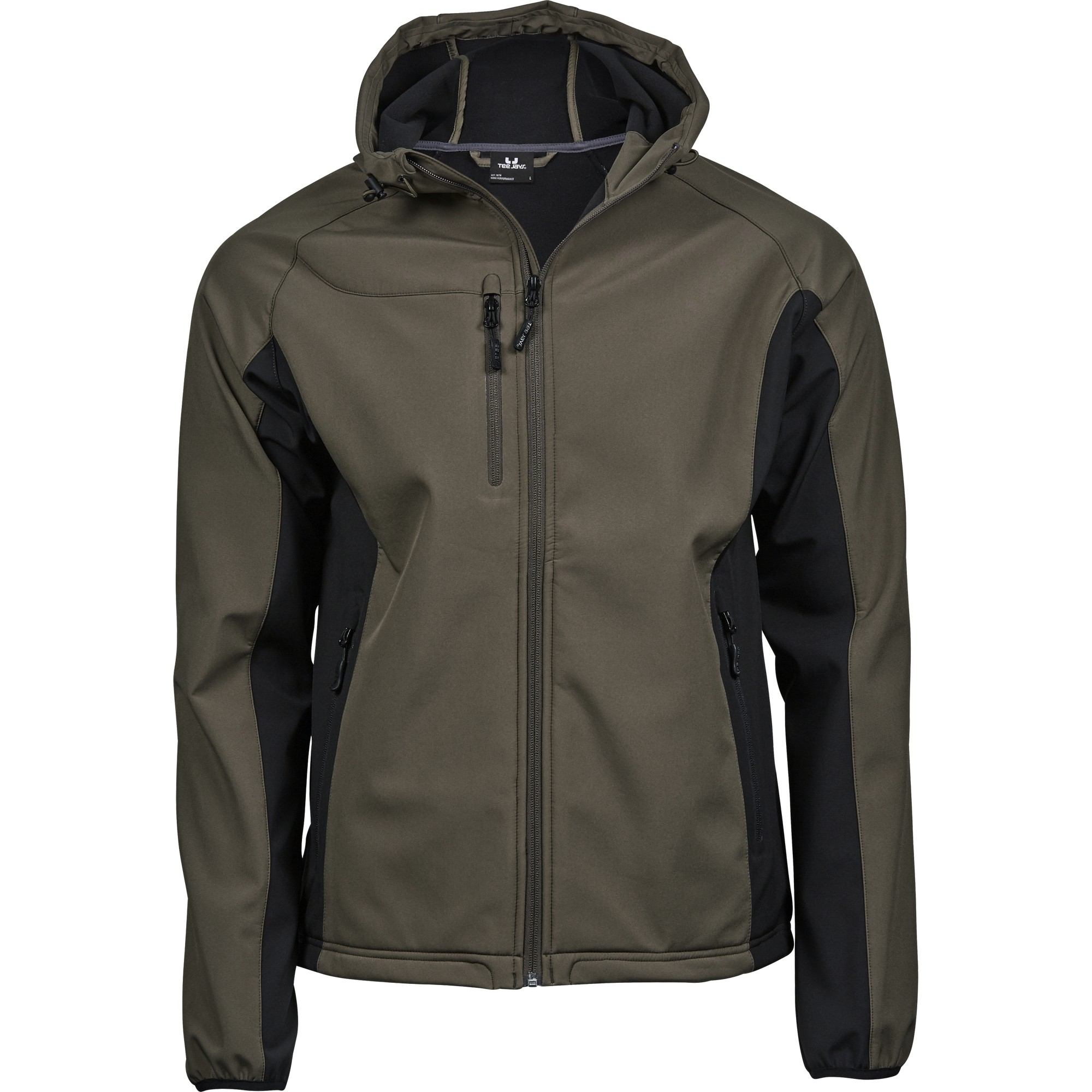 b790148c Tee Jays Mens Lightweight Performance Hooded Soft Shell Jacket ...