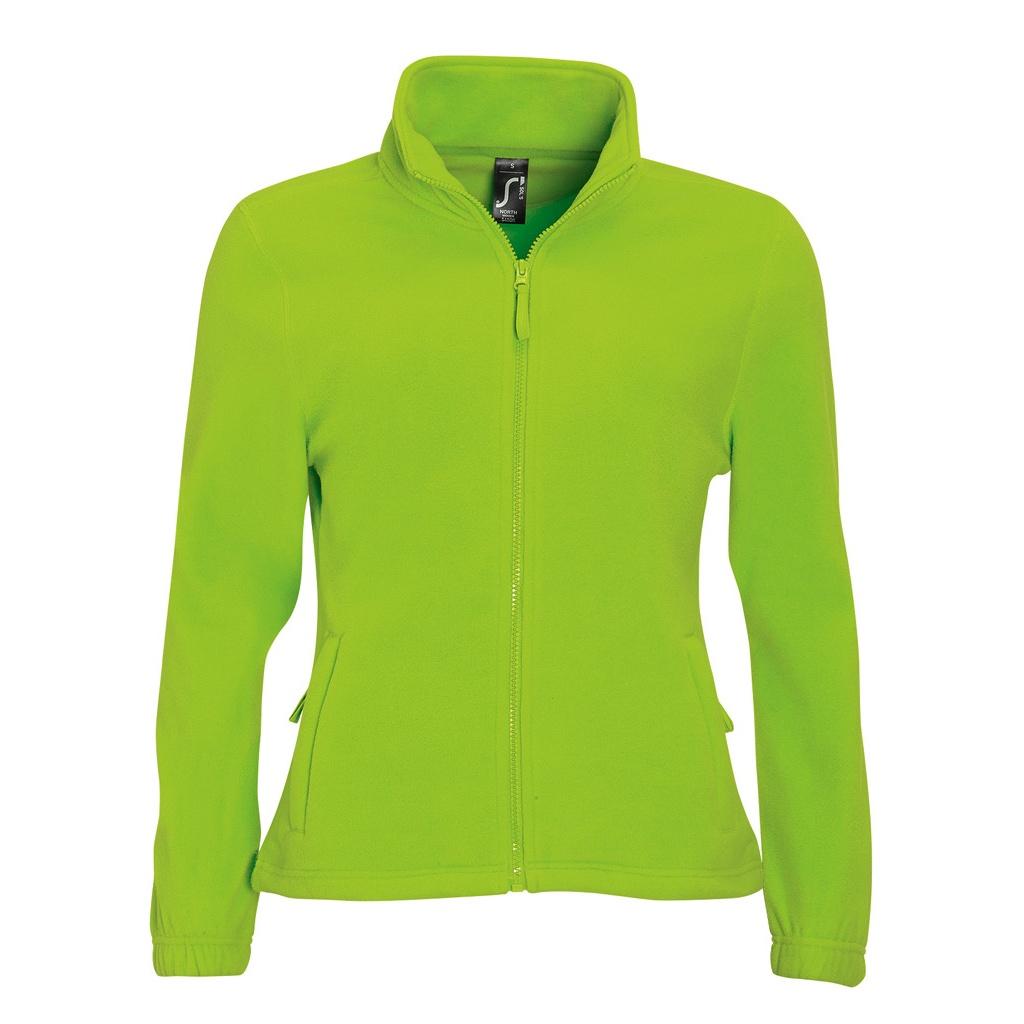 SOLS Womens/Ladies North Full Zip Fleece Jacket (L) (Lime)