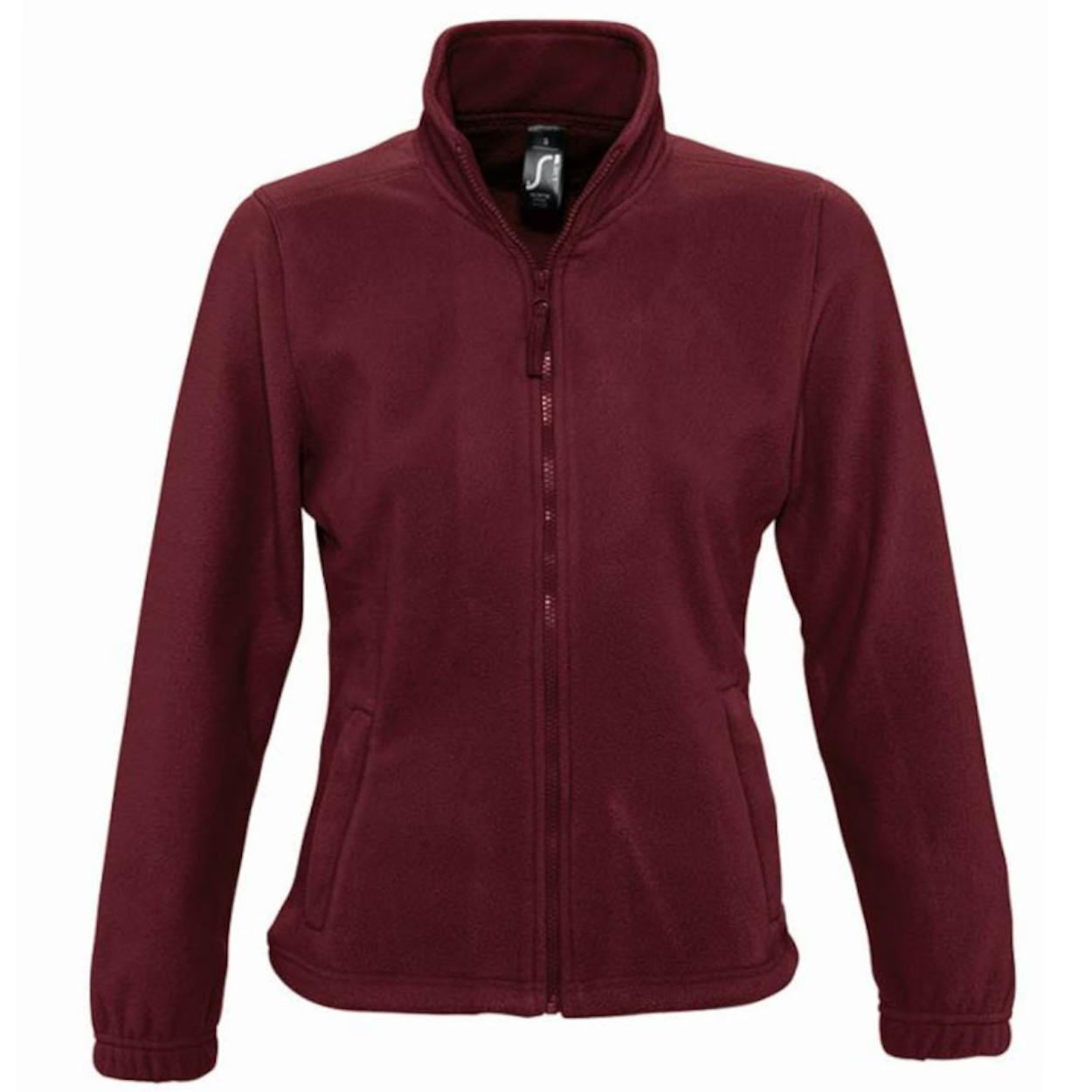 SOLS Womens/Ladies North Full Zip Fleece Jacket (S) (Burgundy)