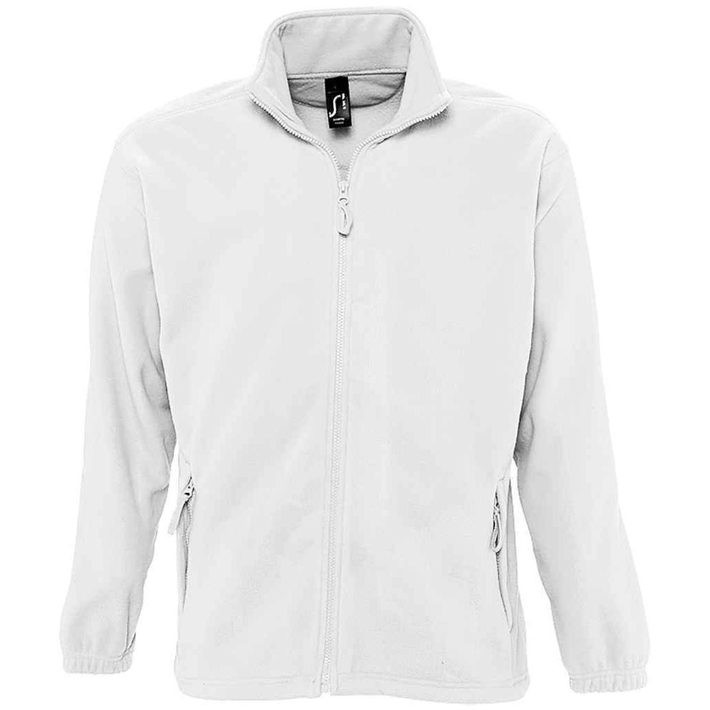 SOLS Womens/Ladies North Full Zip Fleece Jacket (S) (White)