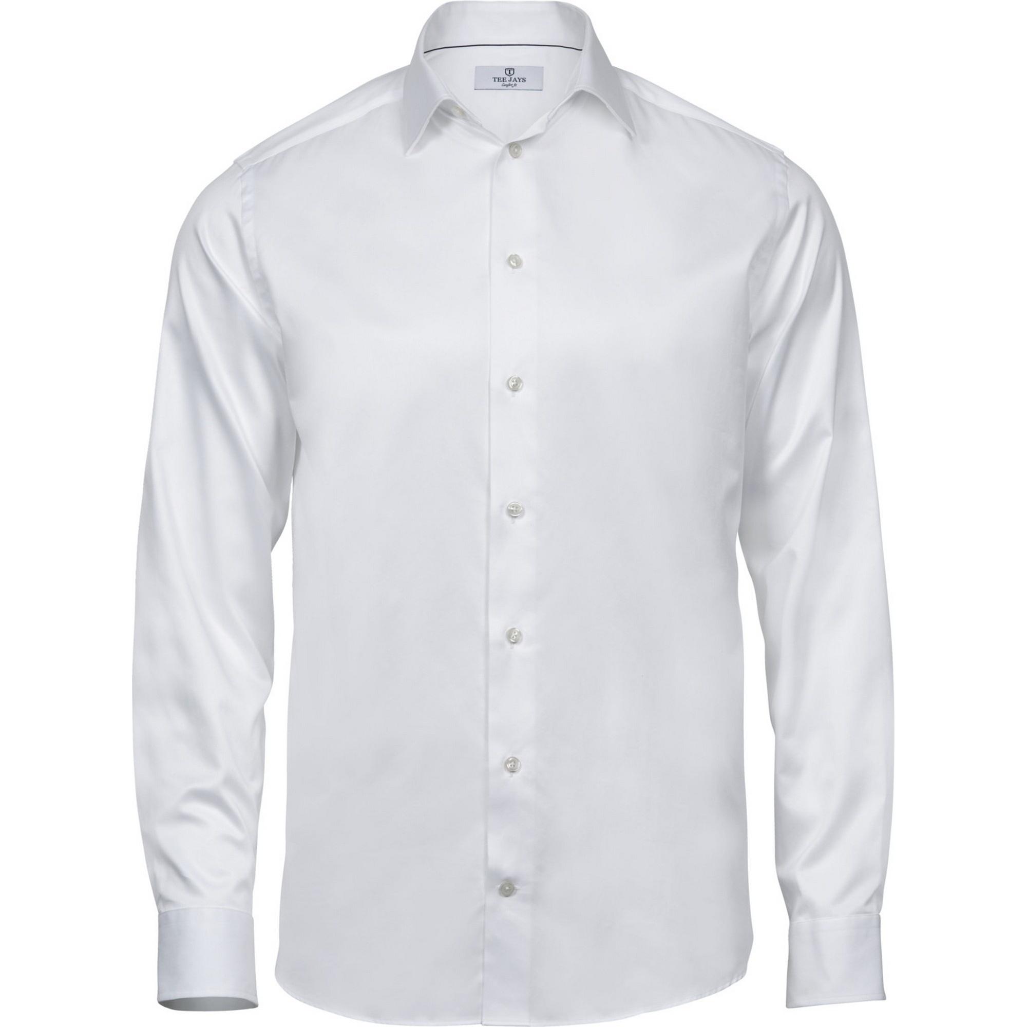 Tee Jays Mens Luxury Comfort Fit Long Sleeve Oxford Shirt (XXL) (Light Blue)