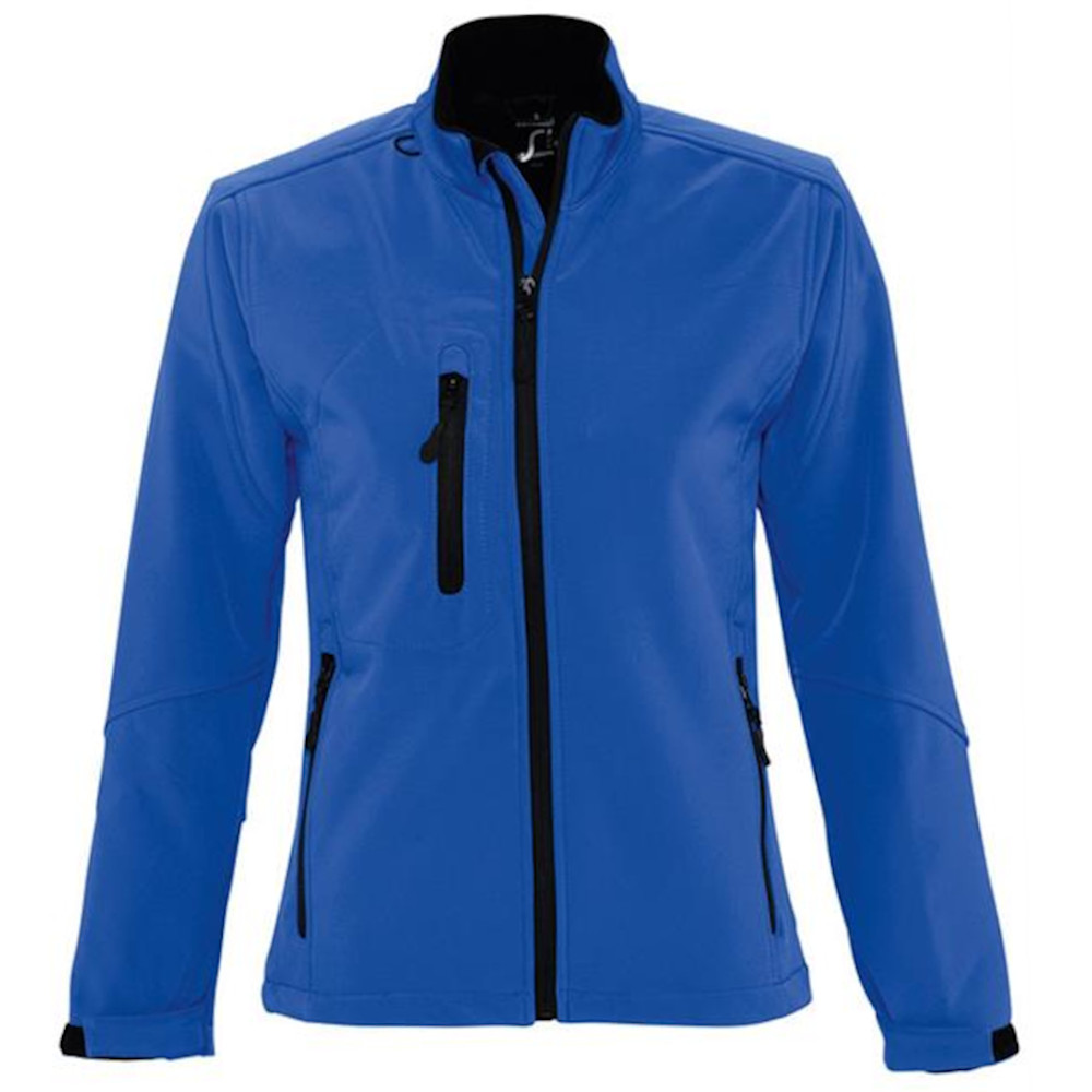 SOLS Womens/Ladies Roxy Soft Shell Jacket (Breathable, Windproof And Water Resistant) (M) (Royal Blue)