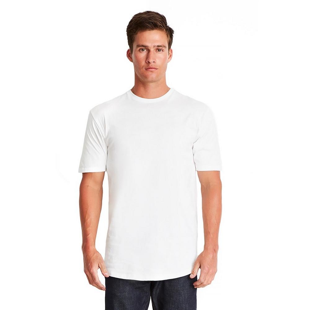 Next Level Mens Long Body Cotton T-Shirt (XL) (White)