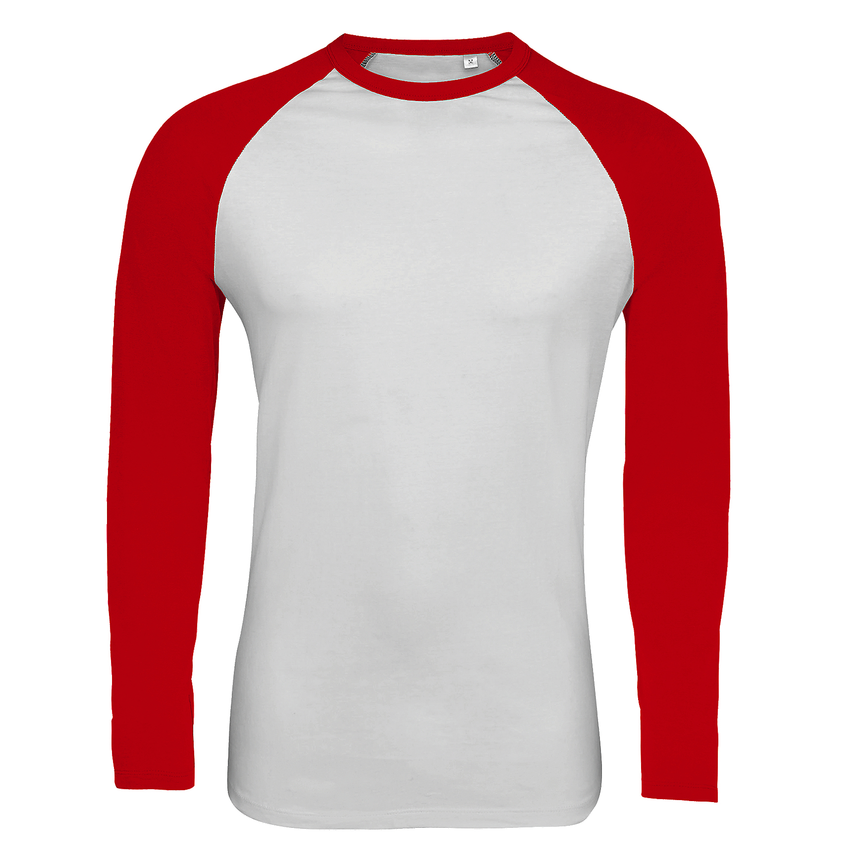 SOLS Mens Funky Contrast Long Sleeve T-Shirt (L) (White/Red)