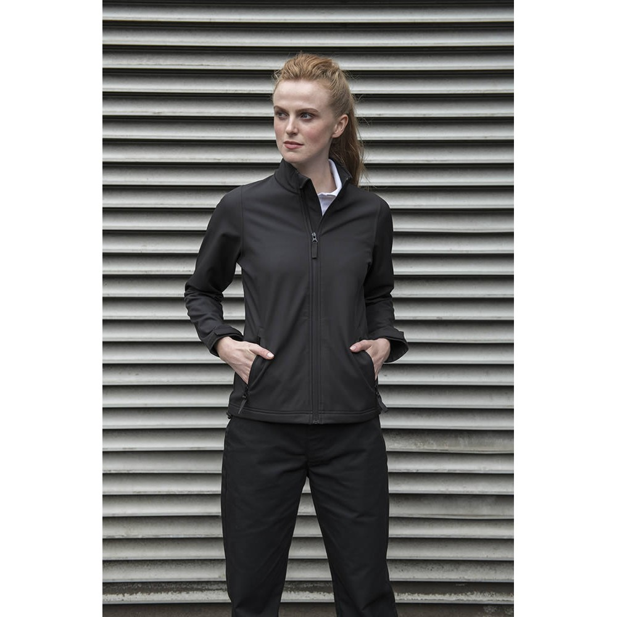 PRO RTX Womens/Ladies Pro Two Layer Soft Shell Jacket (M) (Black)
