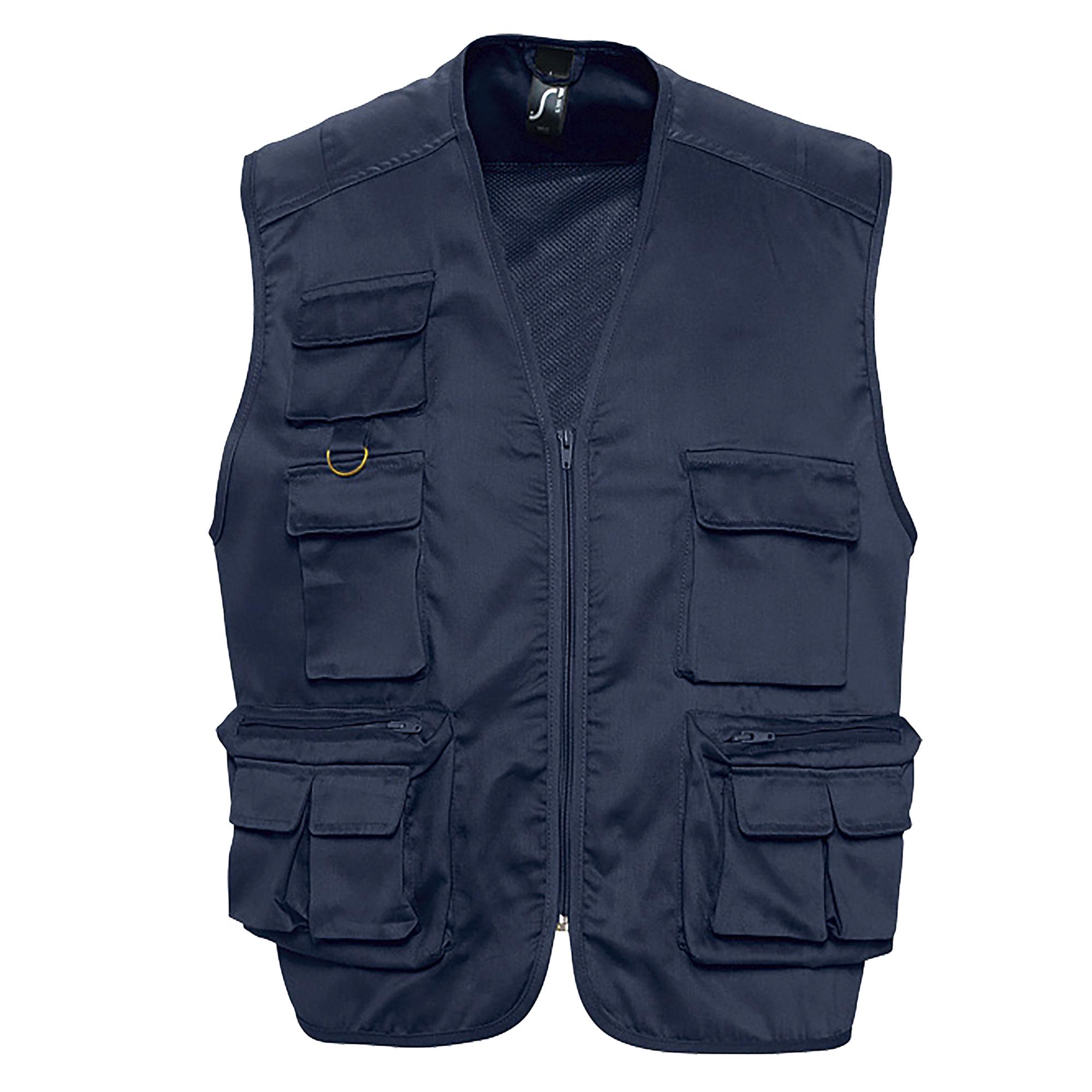 SOLS Wild Unisex Full Zip Waistcoat Bodywarmer Jacket (3XL) (Black)