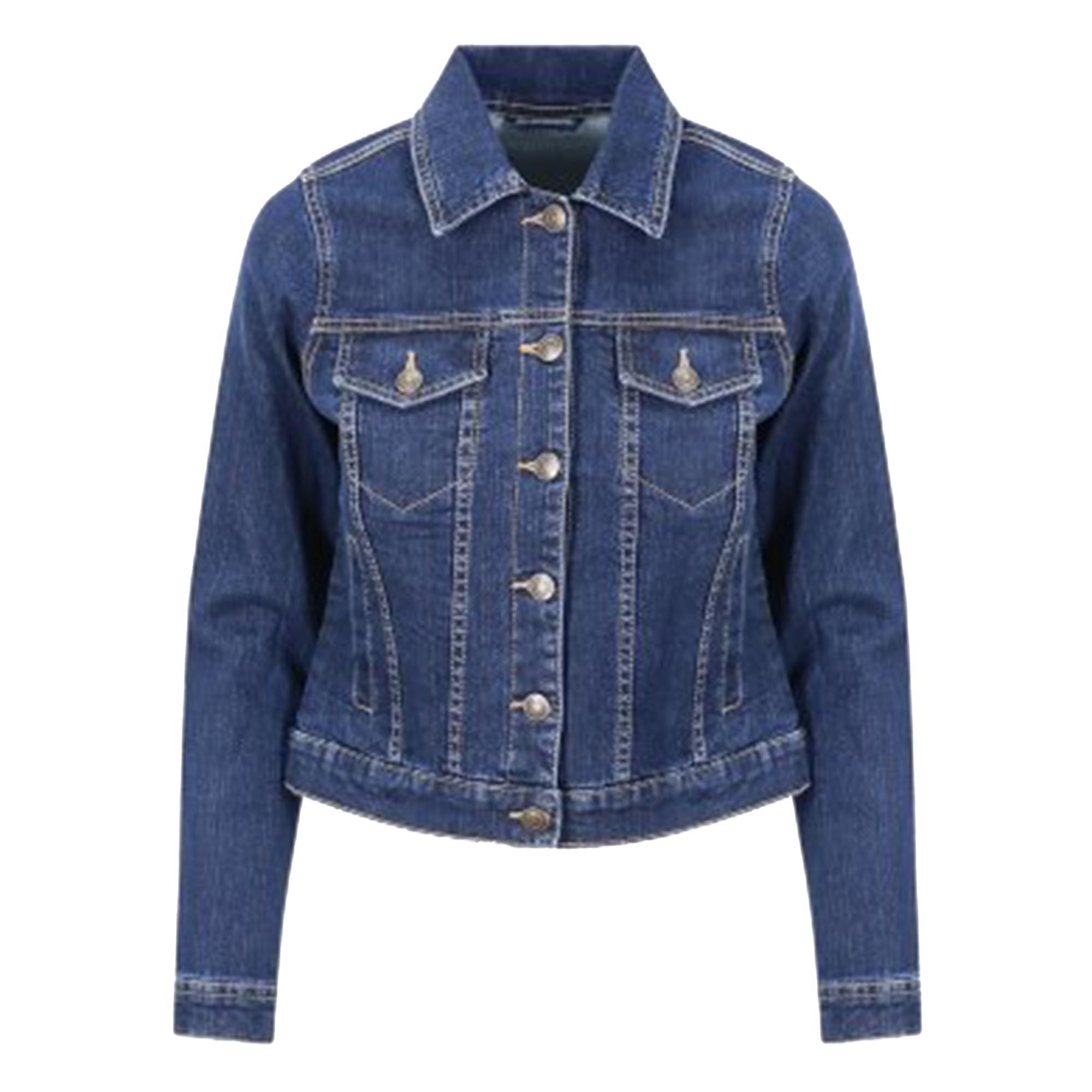 So Denim Ladies Olivia Denim Jacket (XS) (Dark Blue Wash)
