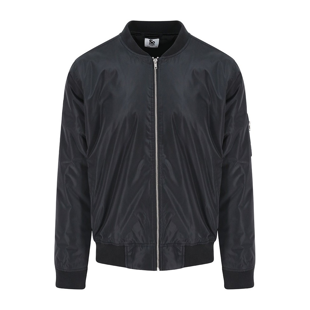 AWDis So Denim Mens Frankie Bomber Jacket (XL) (Black)