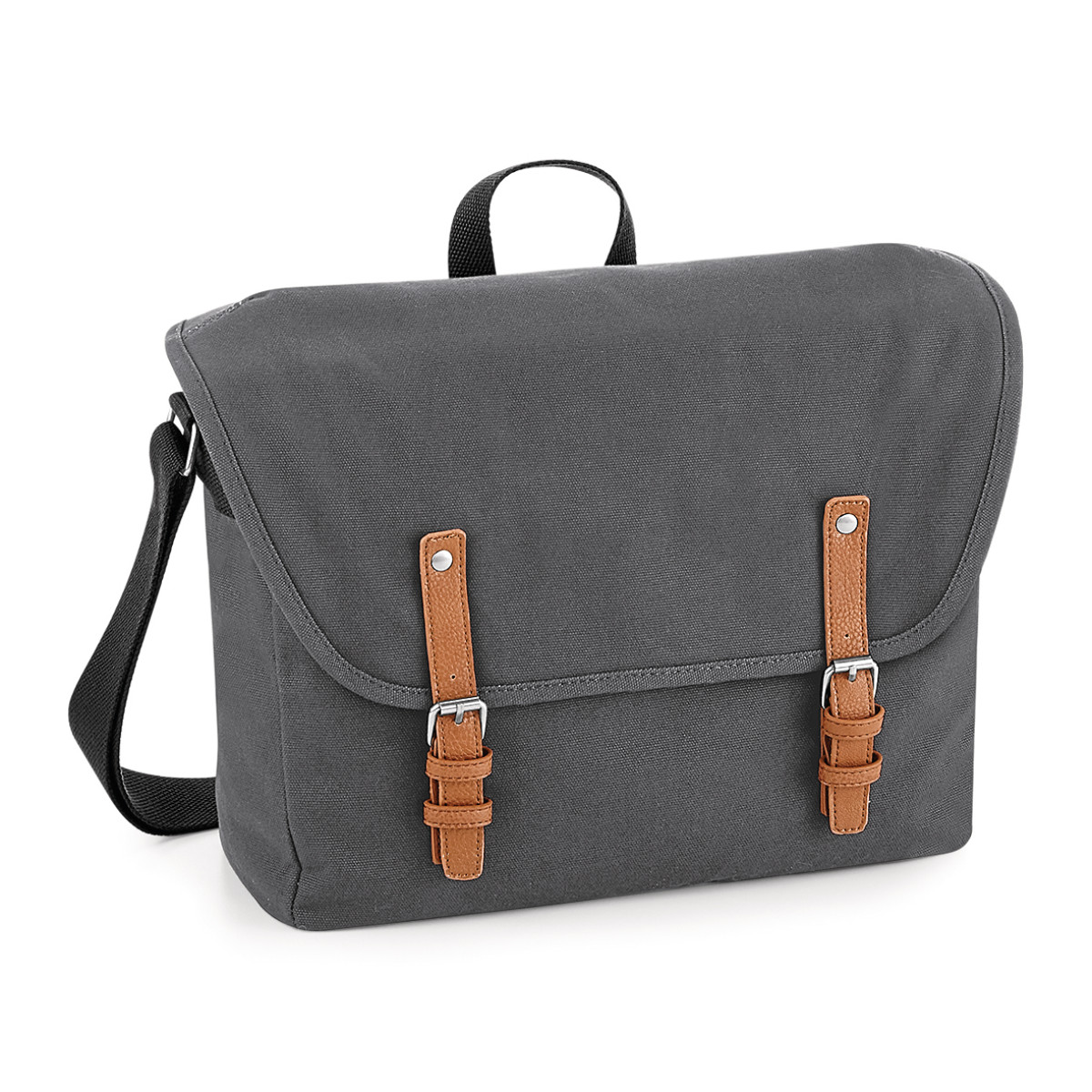Quadra Vintage Messenger Bag (One Size) (Graphite Grey)