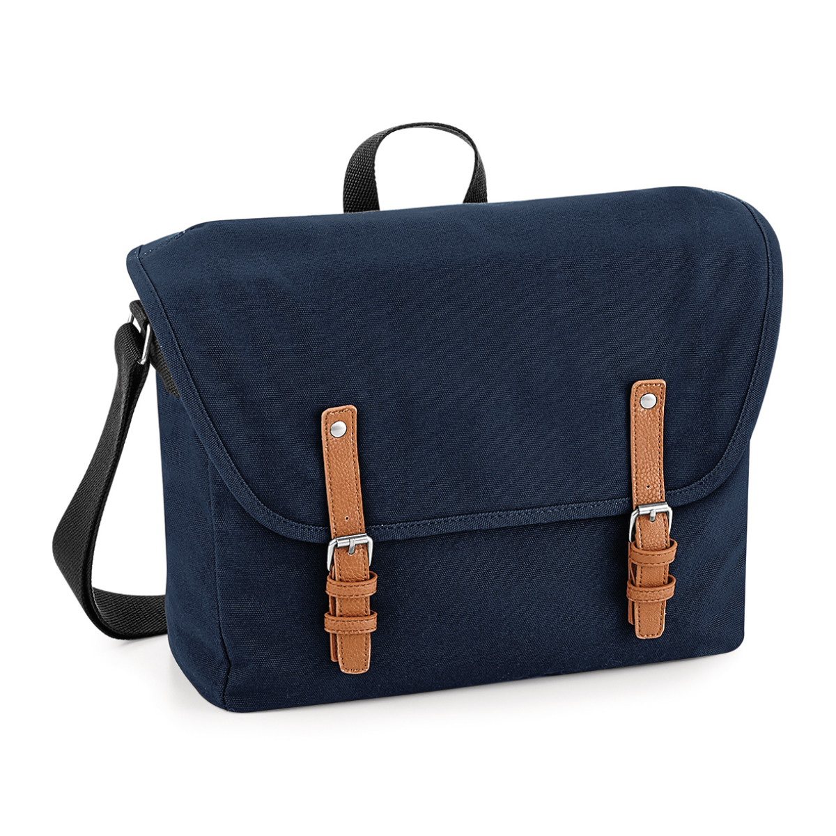 Quadra Vintage Messenger Bag (One Size) (French Navy)