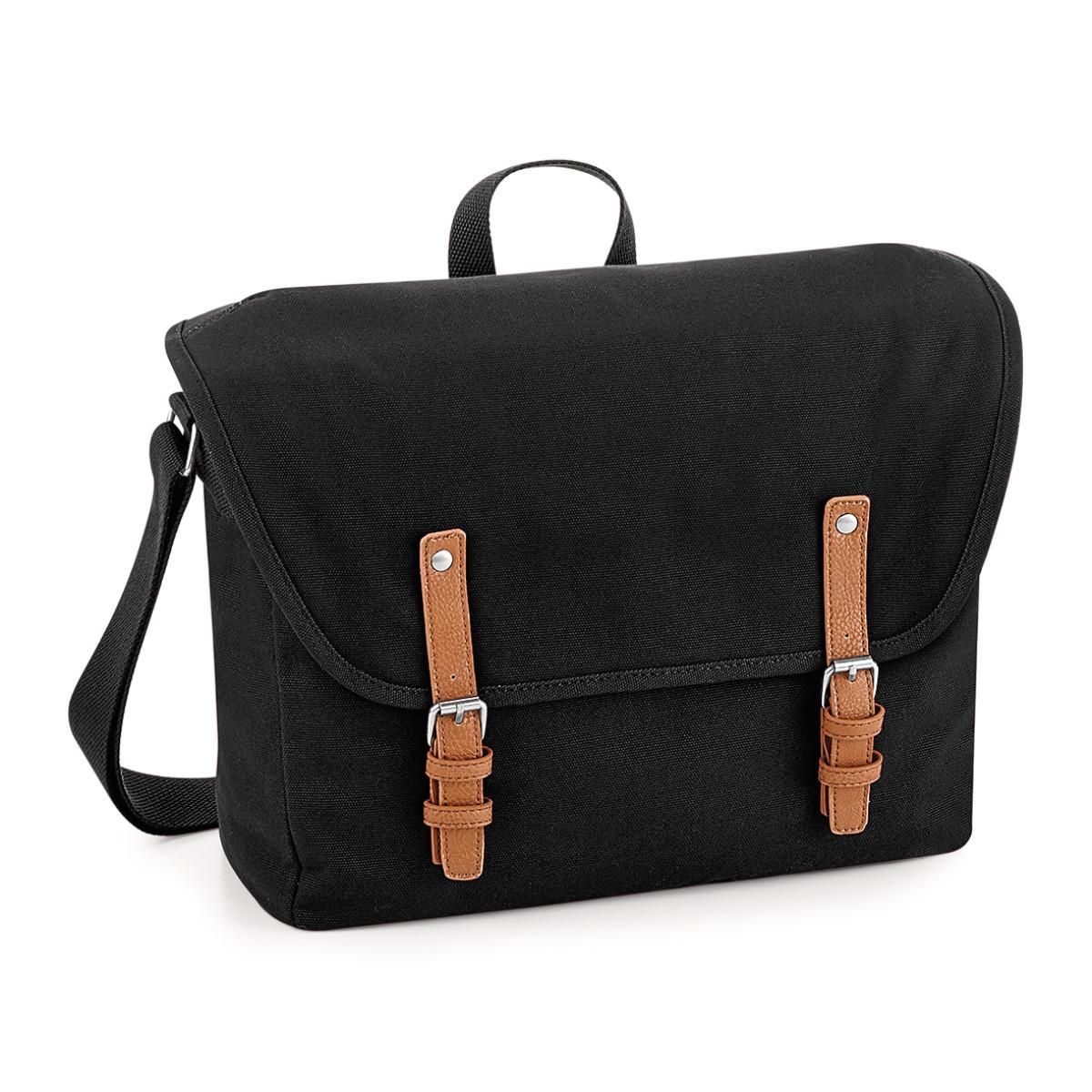 Quadra Vintage Messenger Bag (One Size) (Black)