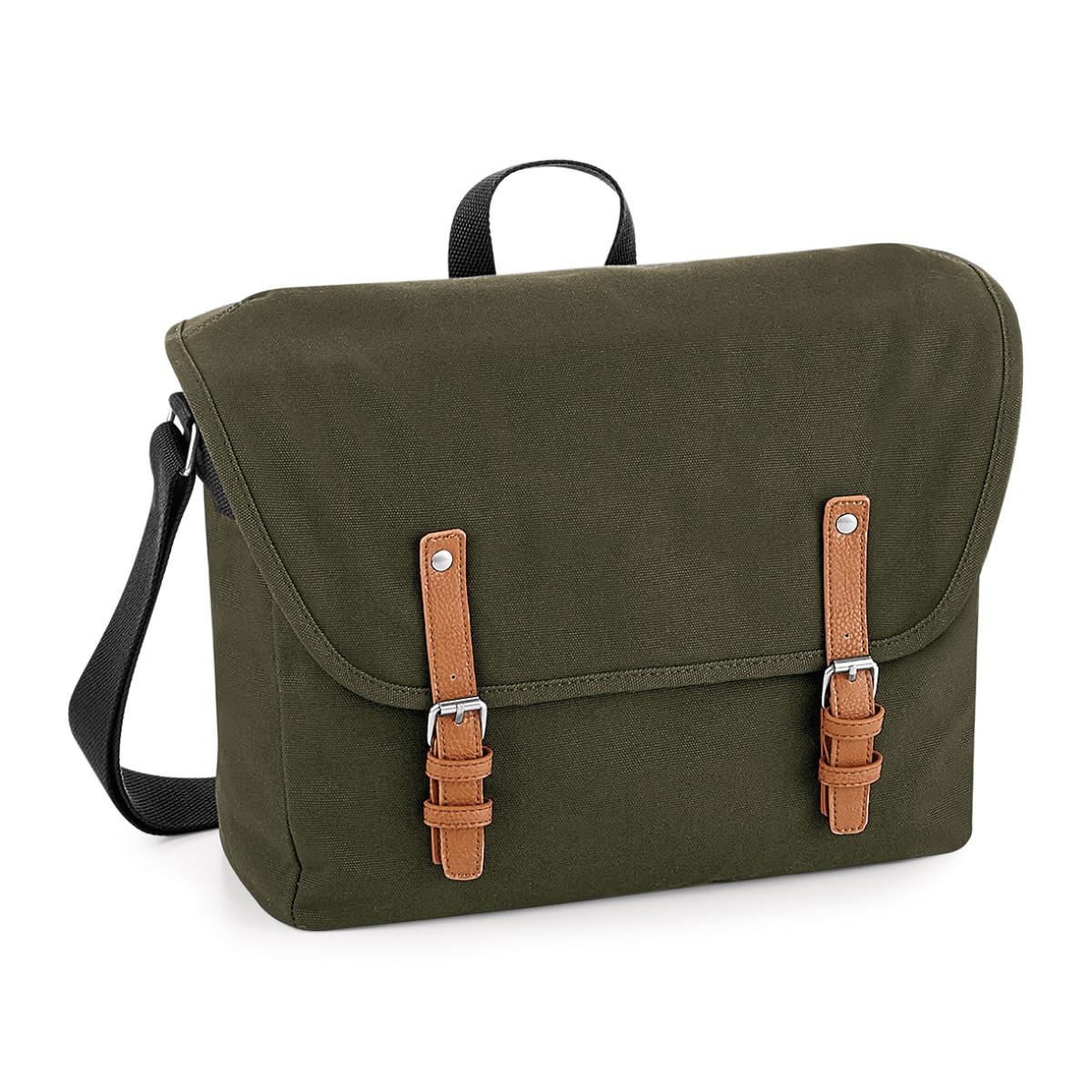 Quadra Vintage Messenger Bag (One Size) (Military Green)