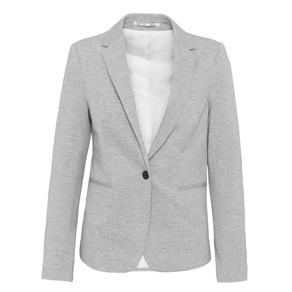 Kariban Womens/Ladies Knitted Blazer (16 UK) (Light Grey Heather)