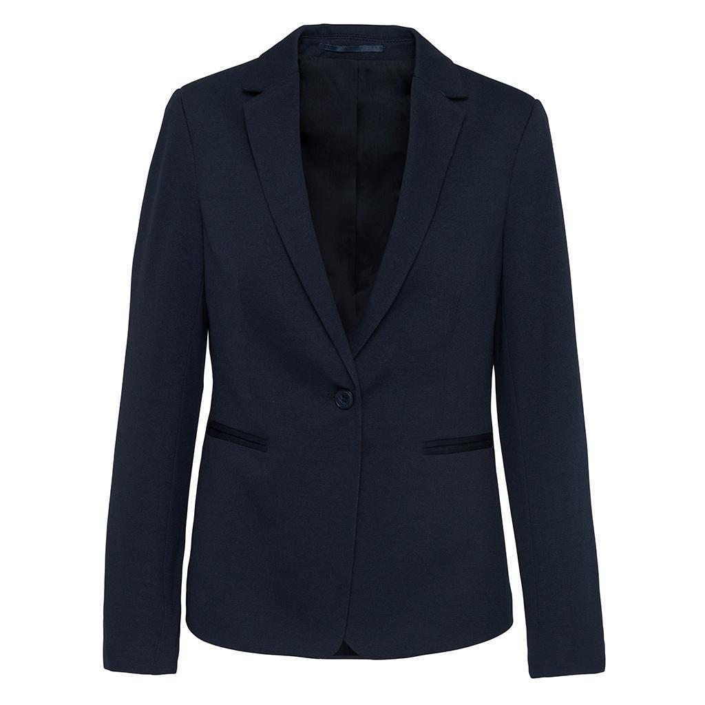 Kariban Womens/Ladies Knitted Blazer (10 UK) (Night Navy Heather)