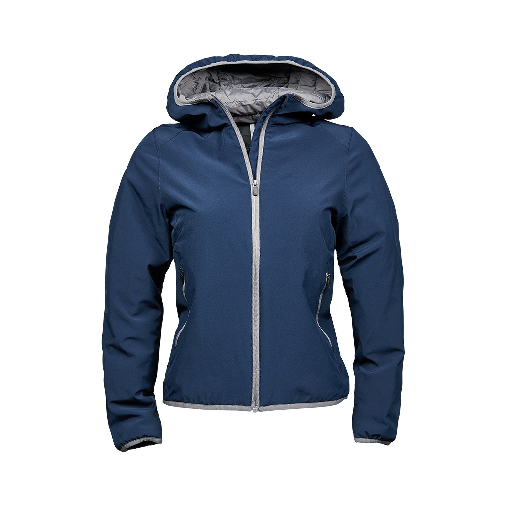 Tee Jays Womens/Ladies Competition Soft Shell Jacket (L) (Navy/Light Grey)
