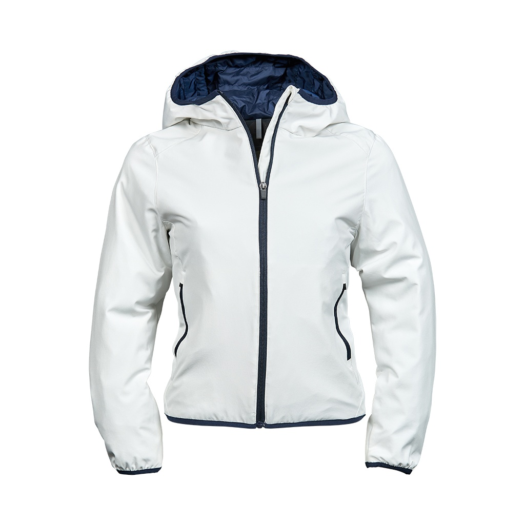 Tee Jays Womens/Ladies Competition Soft Shell Jacket (XL) (Snow/Navy)